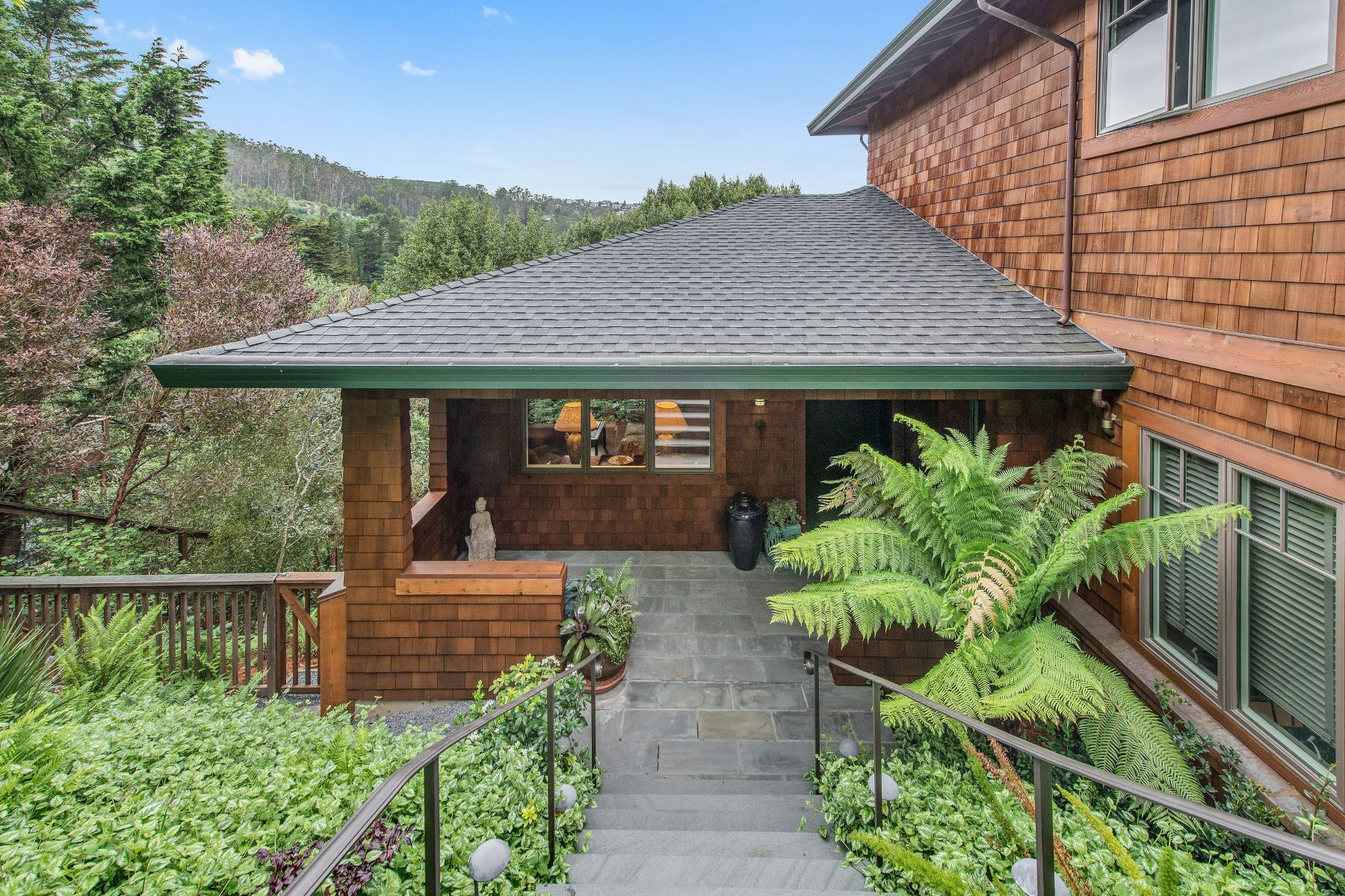 Single Family Home for Sale at Private and Tranquil Contemporary Home 699 Forest Way Mill Valley, California, 94941 United States