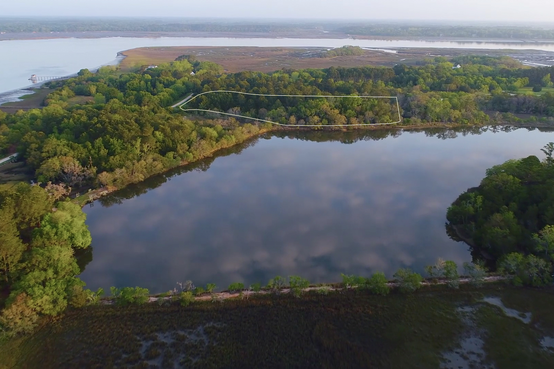 Land for Sale at Secluded 8 Acre Lot 1289 Martins Point Road, Wadmalaw Island, South Carolina, 29487 United States