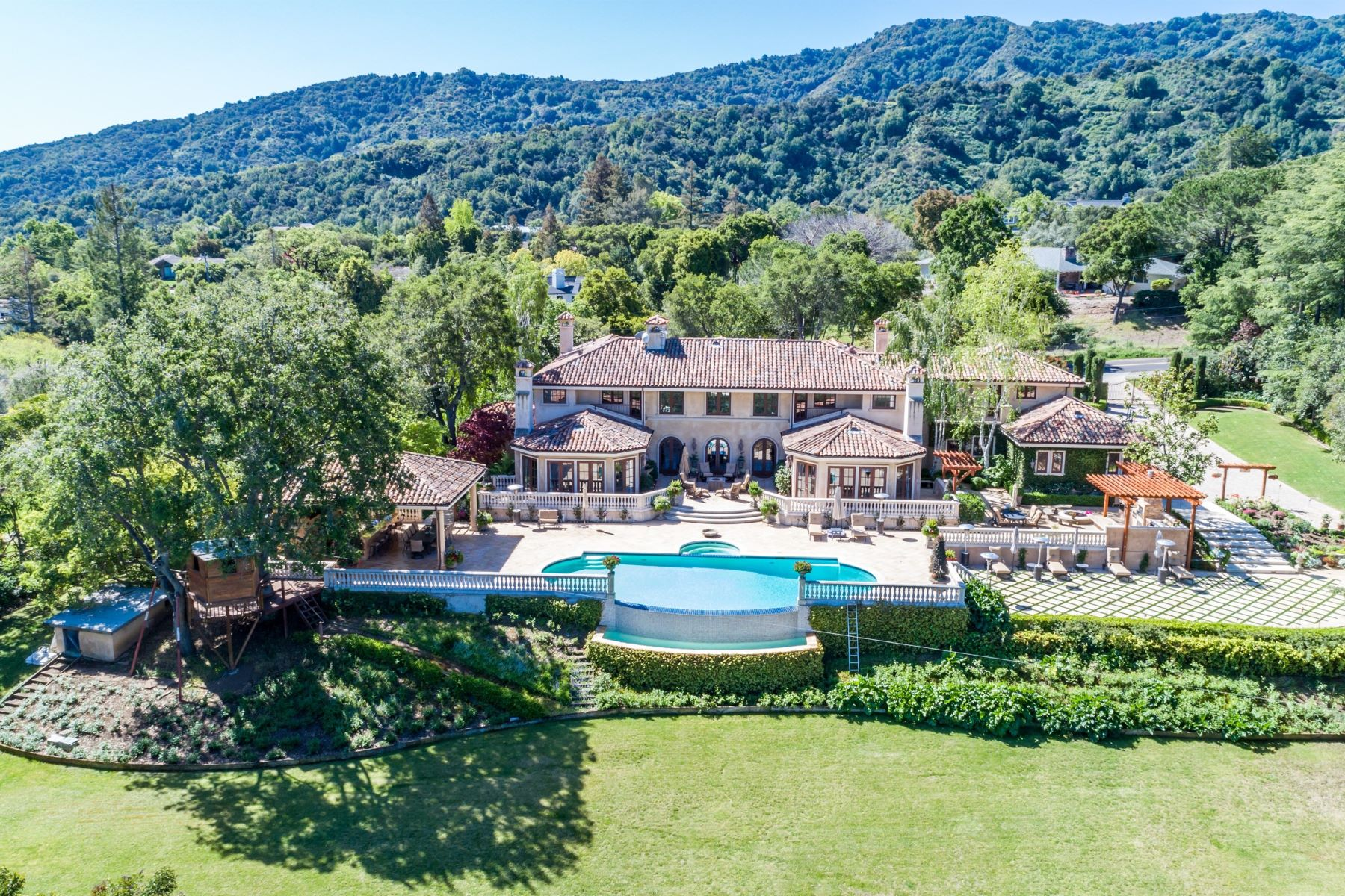 Single Family Homes for Sale at Grand Mediterranean Entertainer's Estate Bay Views, Entertainer's Estate Los Altos Hills, California 94024 United States