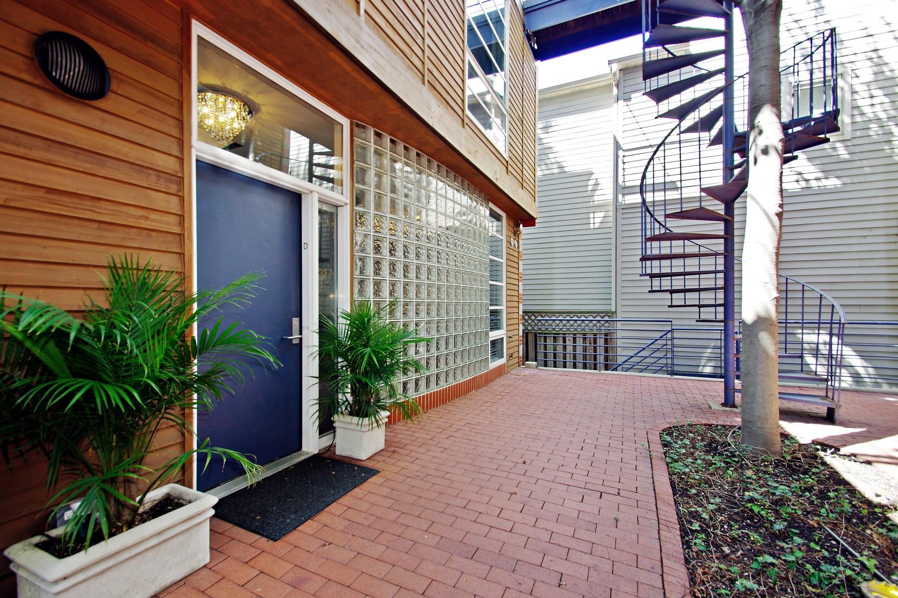 多棟聯建住宅 為 出售 在 End-Unit Townhouse 1401 W Berteau Avenue Unit D Chicago, 伊利諾斯州, 60613 美國