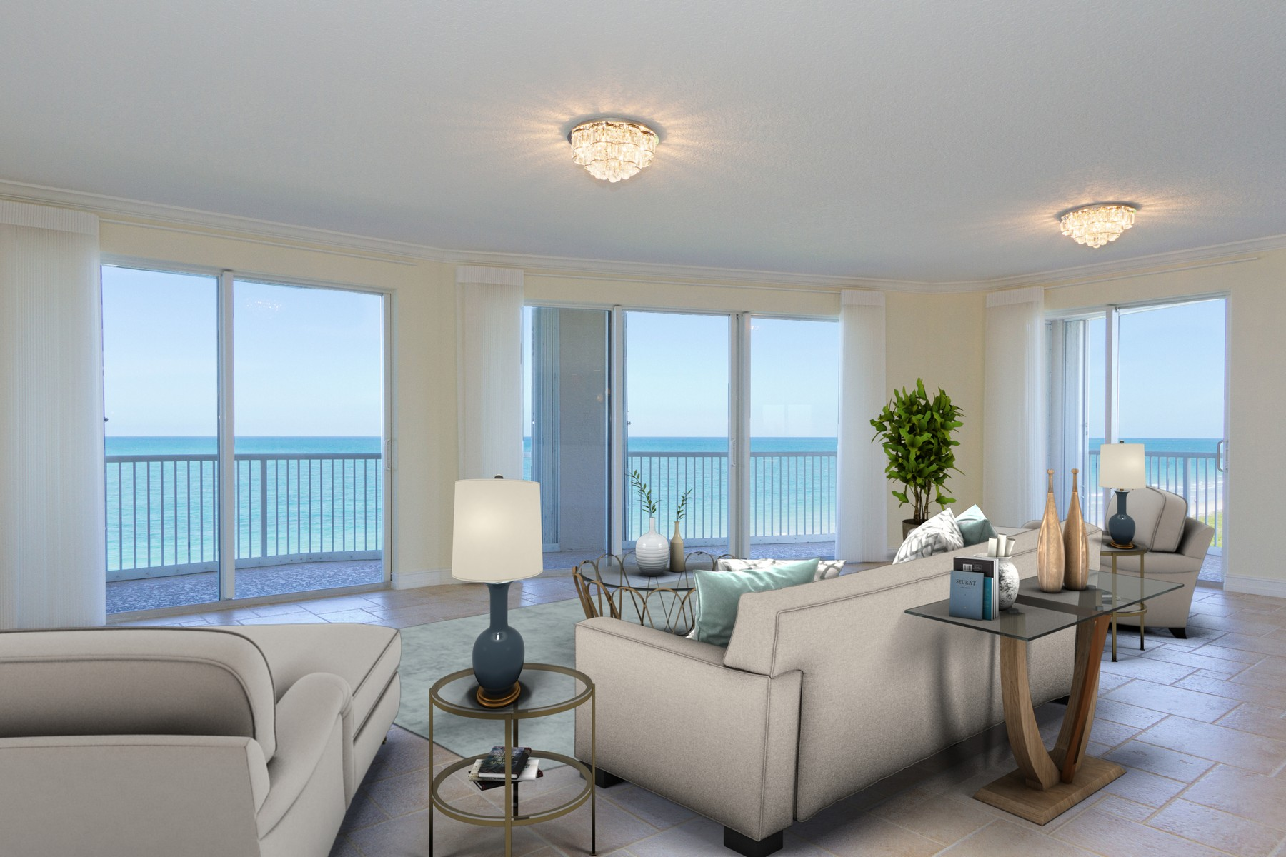 Condominiums for Sale at Experience Sea Side Elegance in this Seveth Floor Condo! 4160 N Highway A1A #707A, Hutchinson Island, Florida 34949 United States