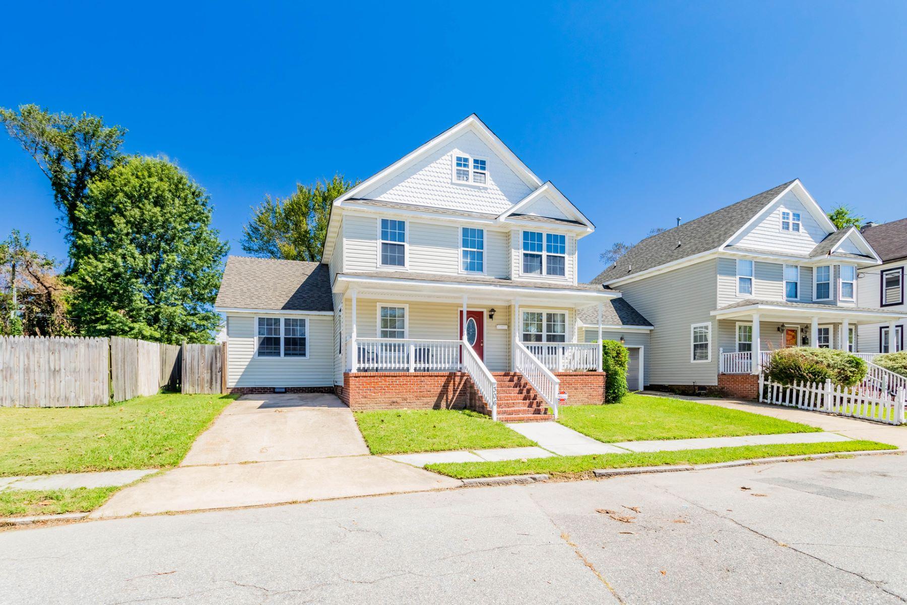 Single Family Homes pour l Vente à Berkley 306 Poplar Avenue Norfolk, Virginia 23523 États-Unis