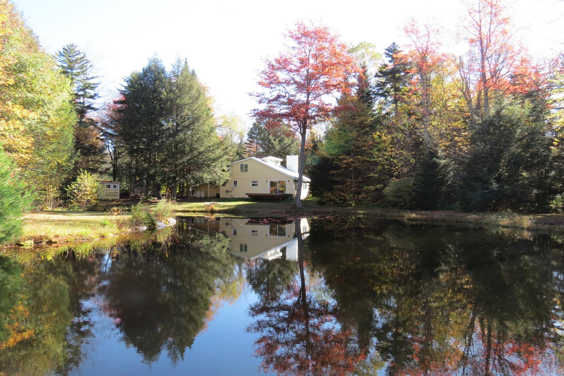 Частный односемейный дом для того Продажа на Idyllic Setting - Pond with 5 Acres 62 Nichols, Landgrove, Вермонт, 05148 Соединенные Штаты