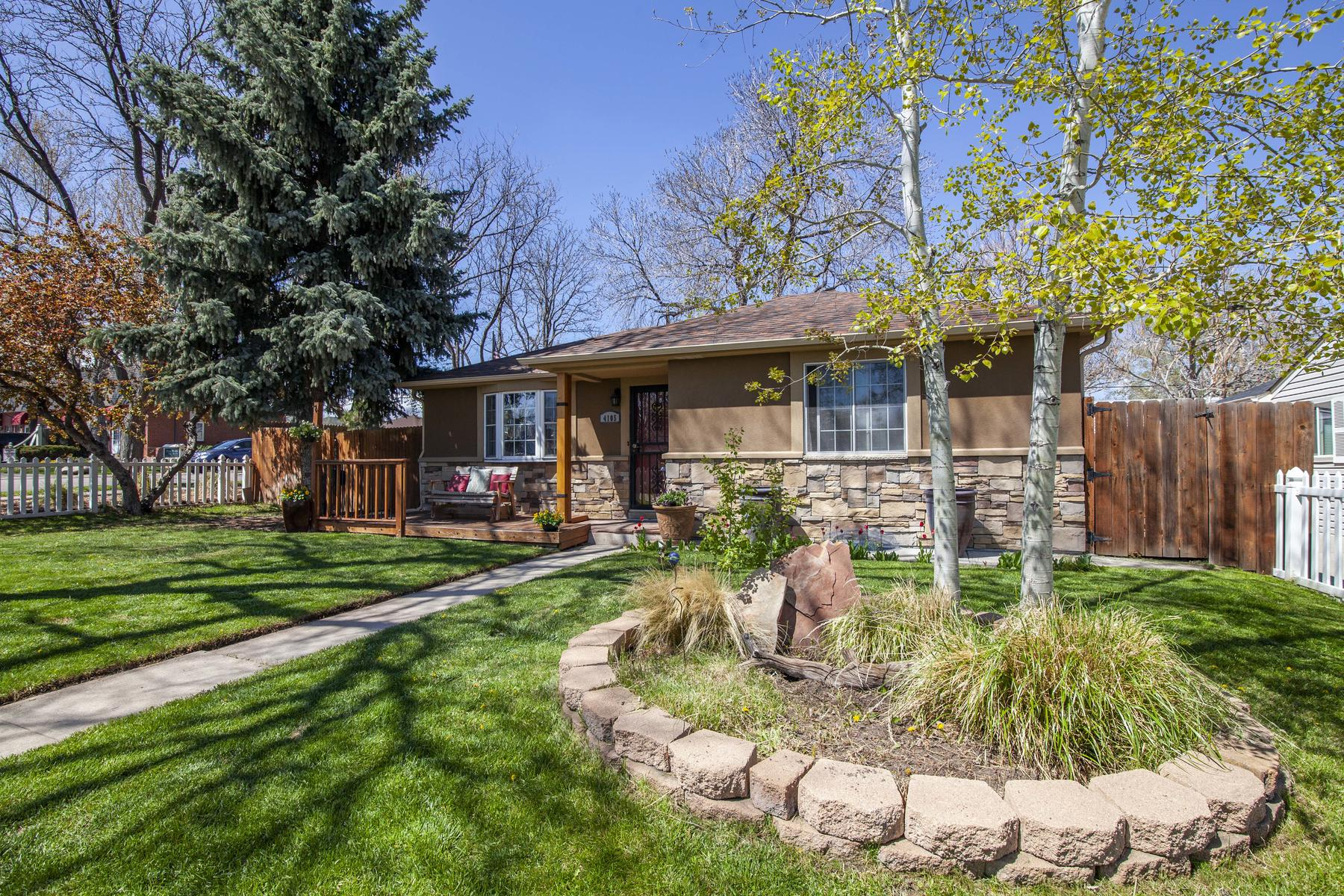 Single Family Homes for Sale at Have You Ever Imagined Owning the Quintessential White Picket Fence Home? 4105 Gray Street, Wheat Ridge, Colorado 80212 United States