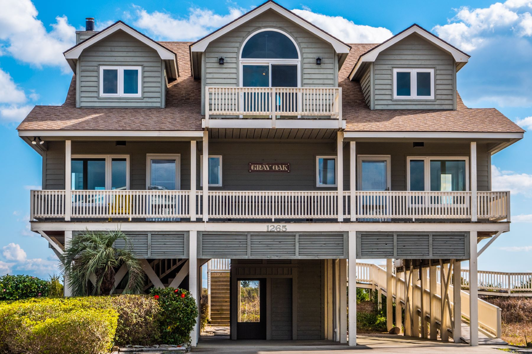 Single Family Homes for Sale at Ocean Front With Porches Galore 1265 Ocean Boulevard W Holden Beach, North Carolina 28462 United States