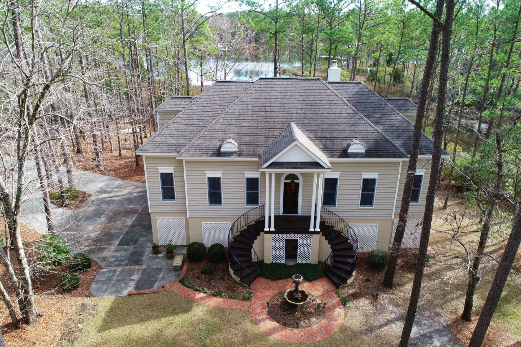 Single Family Homes for Active at Stunning Federal Style Waterfront Home 566 Quail Road Merritt, North Carolina 28556 United States