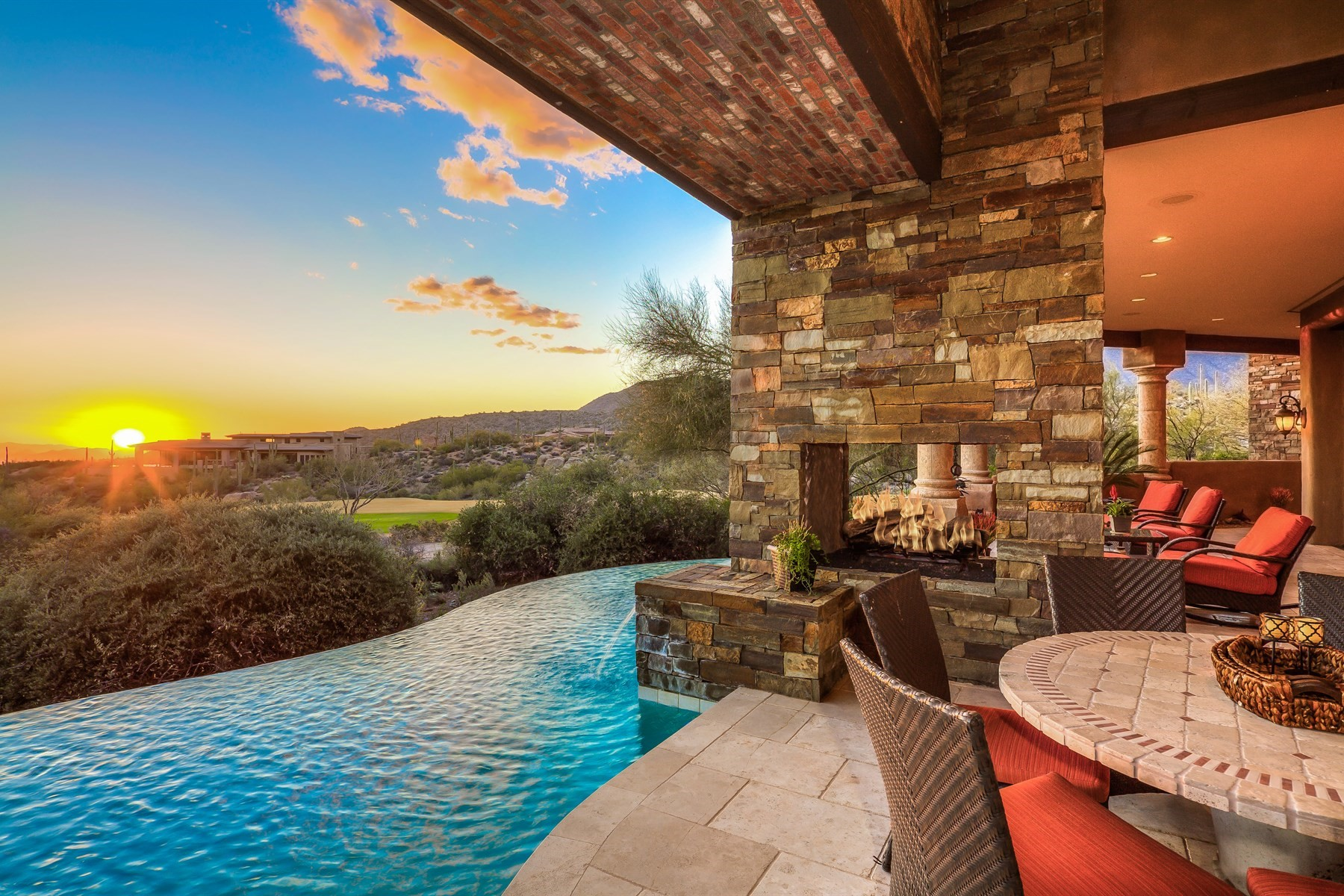 Single Family Home for Sale at Grand Single Level Courtyard Estate in Desert Mountain 41124 N 97th Street, Scottsdale, Arizona, 85262 United States