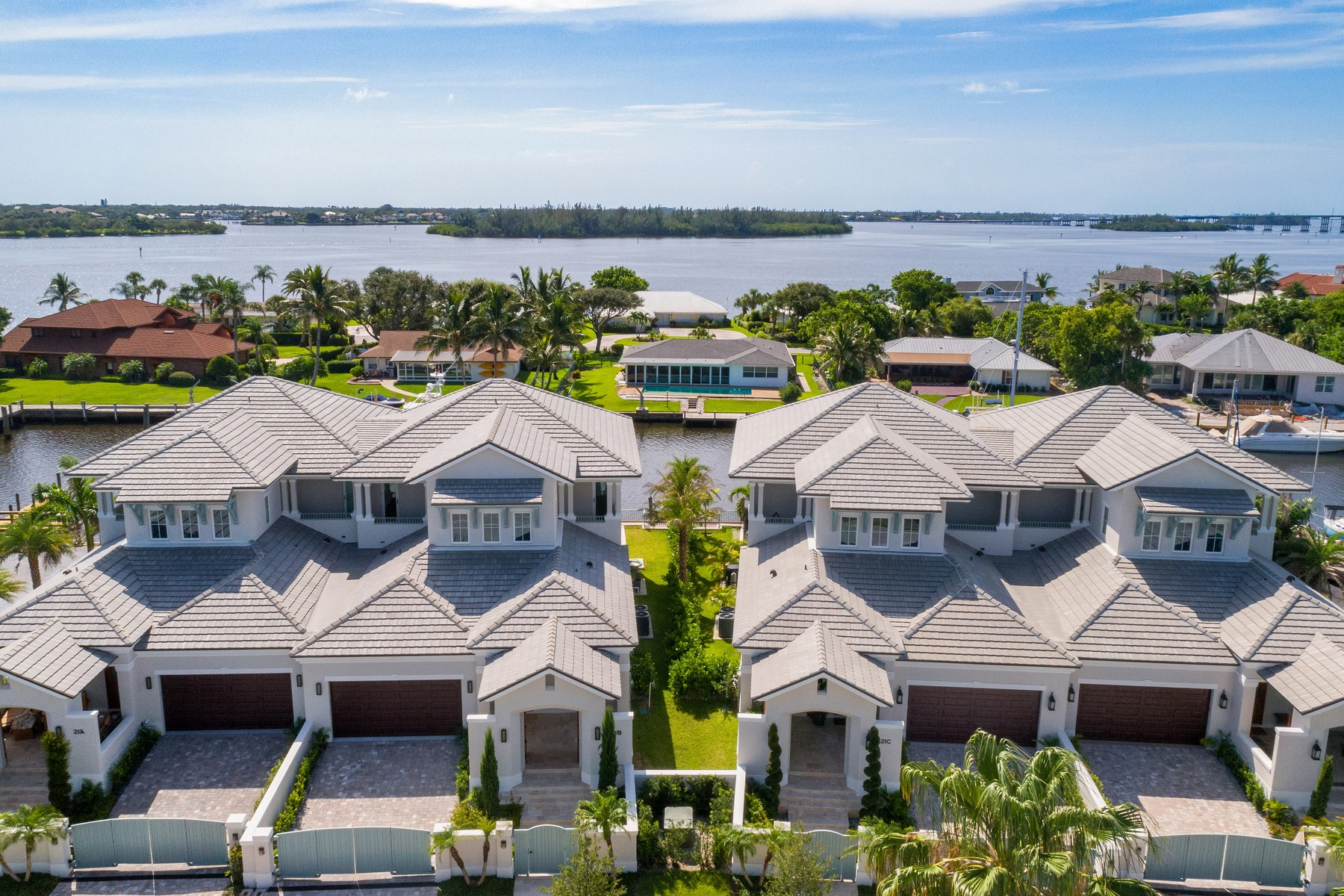 Single Family Home for Sale at New Luxurious Riverfront Townhome In Walk To It All Location 21-B Royal Palm Pointe Vero Beach, Florida 32960 United States