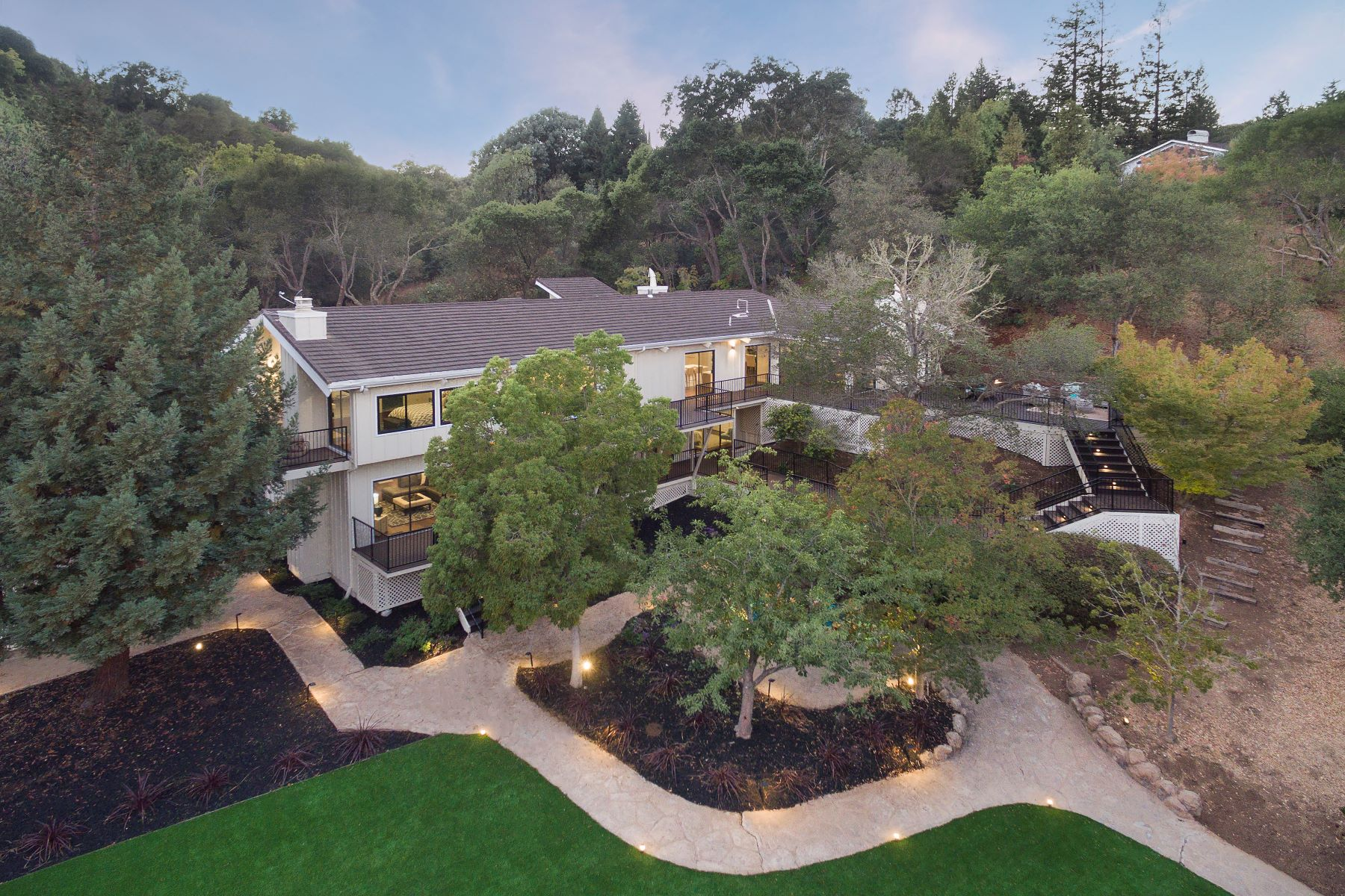 Single Family Homes for Sale at Peaceful, Modern, Acreage 27464 Altamont Road Los Altos Hills, California 94022 United States