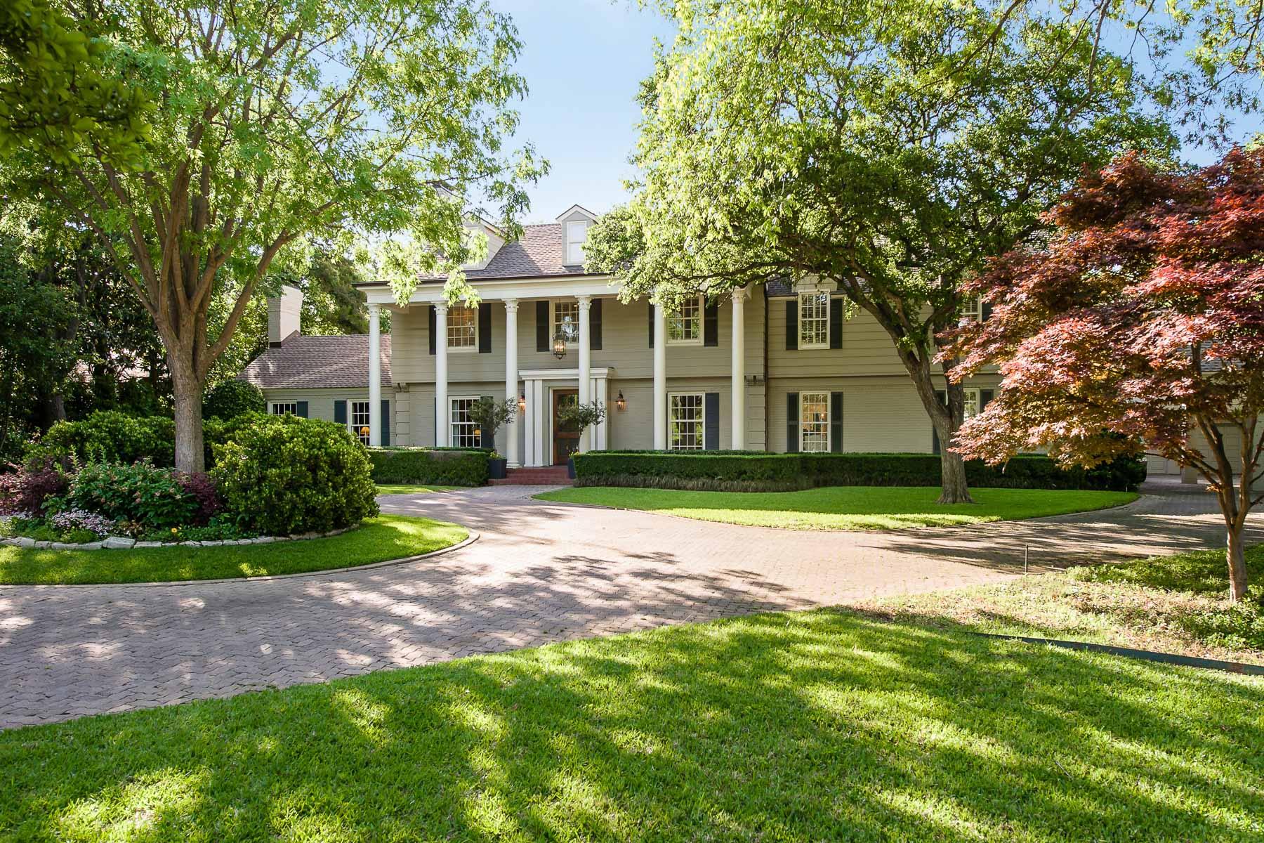 獨棟家庭住宅 為 出售 在 Classic Elegance in Sunnybrook Estates 5022 Shadywood Lane Dallas, 德克薩斯州, 75209 美國