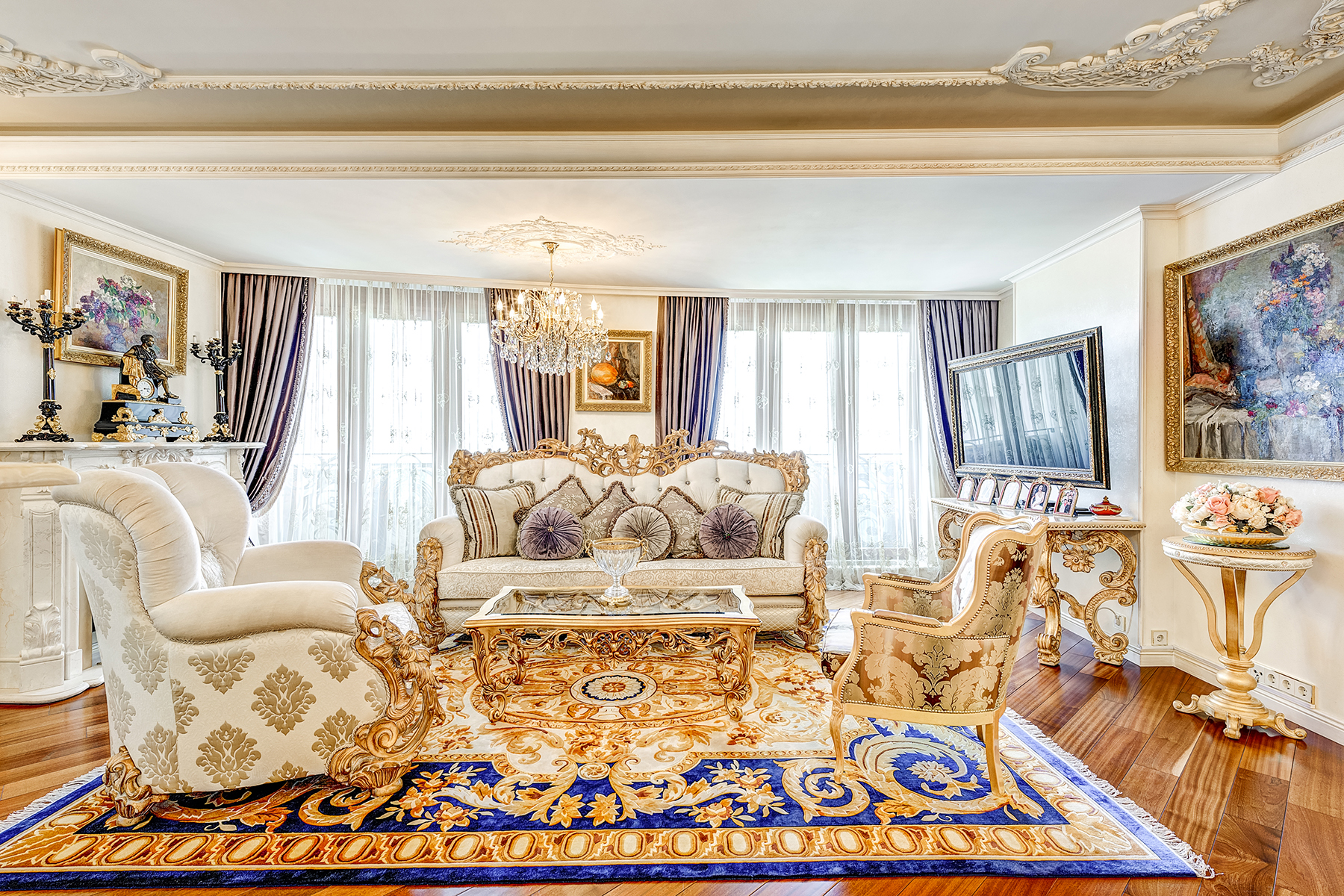 Single Family Home for Sale at Beautiful apartment on Khodynski boulevard with impressive views Moscow, Moscow City, Russia
