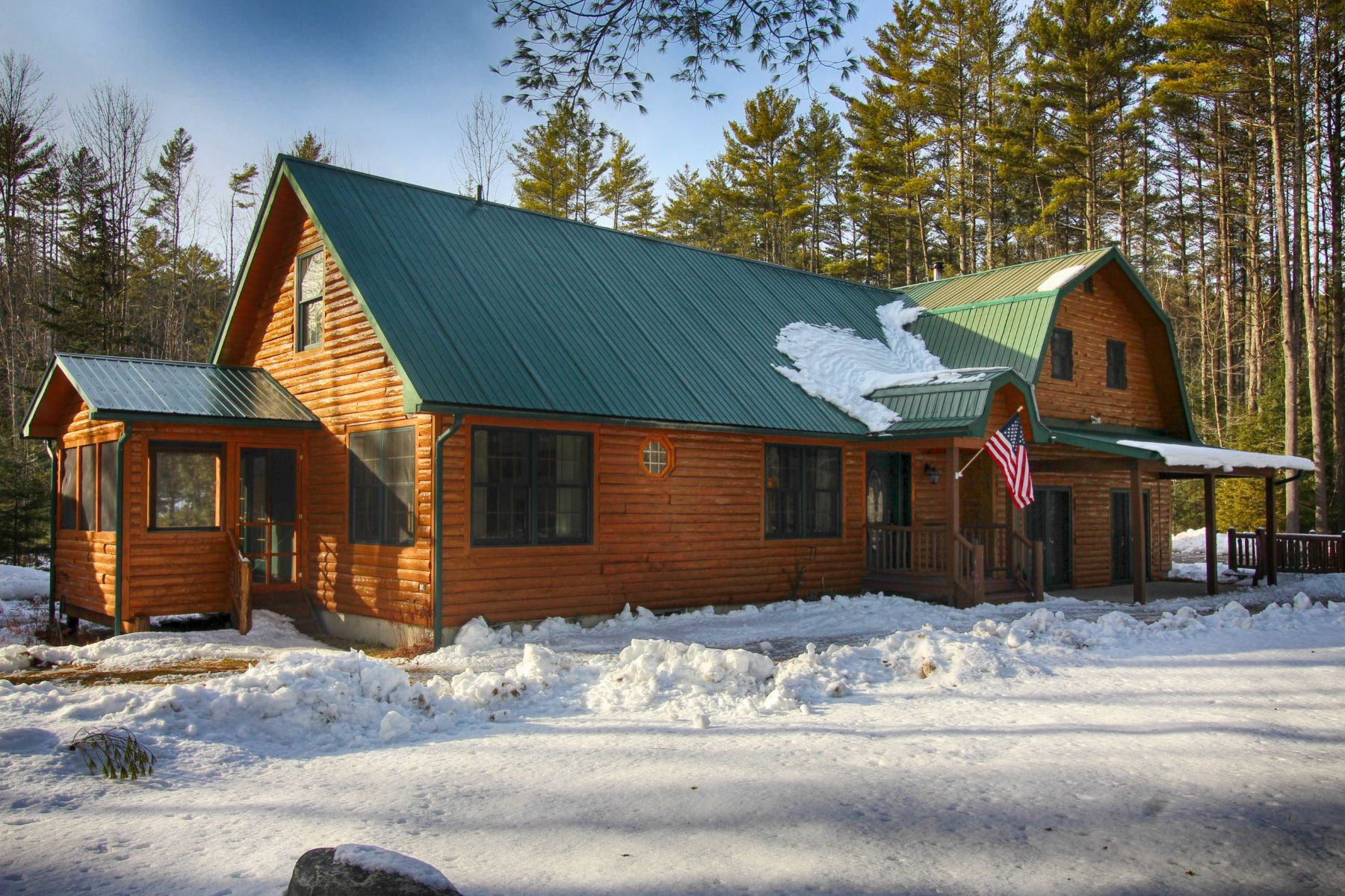 Single Family Homes for Sale at Private Cabin set in Adirondack NY 355 Shaw Hill Rd Adirondack, New York 12808 United States