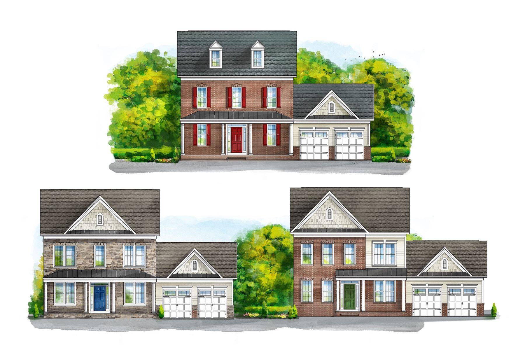 Single Family Homes por un Venta en Chapel Knoll Estates 10802 White Trillium Road Perry Hall, Maryland 21128 Estados Unidos