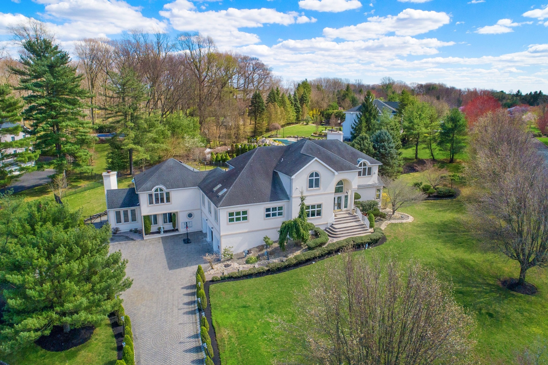 Single Family Homes for Sale at Architecturally Stunning Custom Home 10 Bordeaux Lane Holmdel, New Jersey 07733 United States