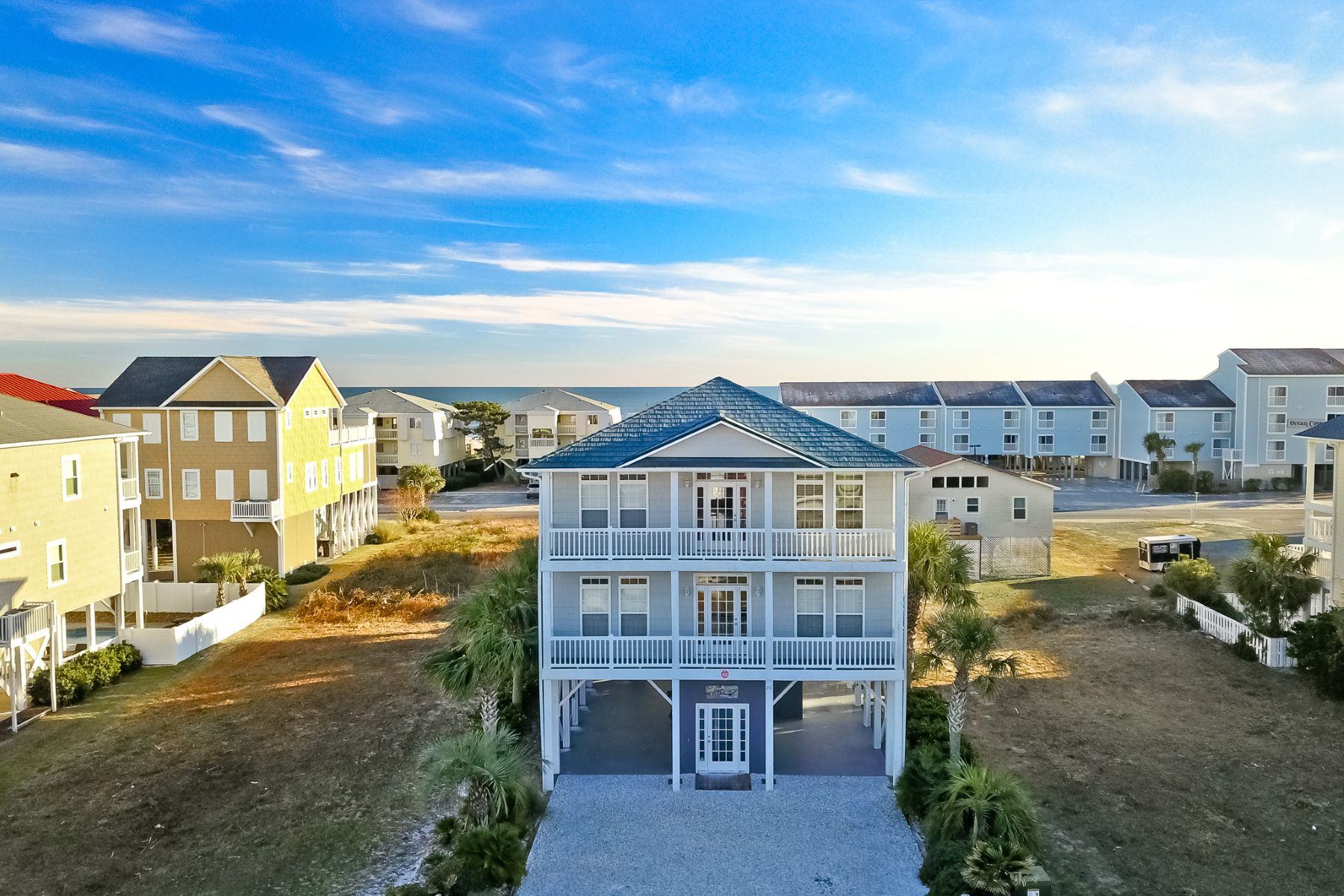 Single Family Home for Sale at Tranquil Oceanview Escape 26 E. Second Street, Ocean Isle Beach, North Carolina, 28469 United States