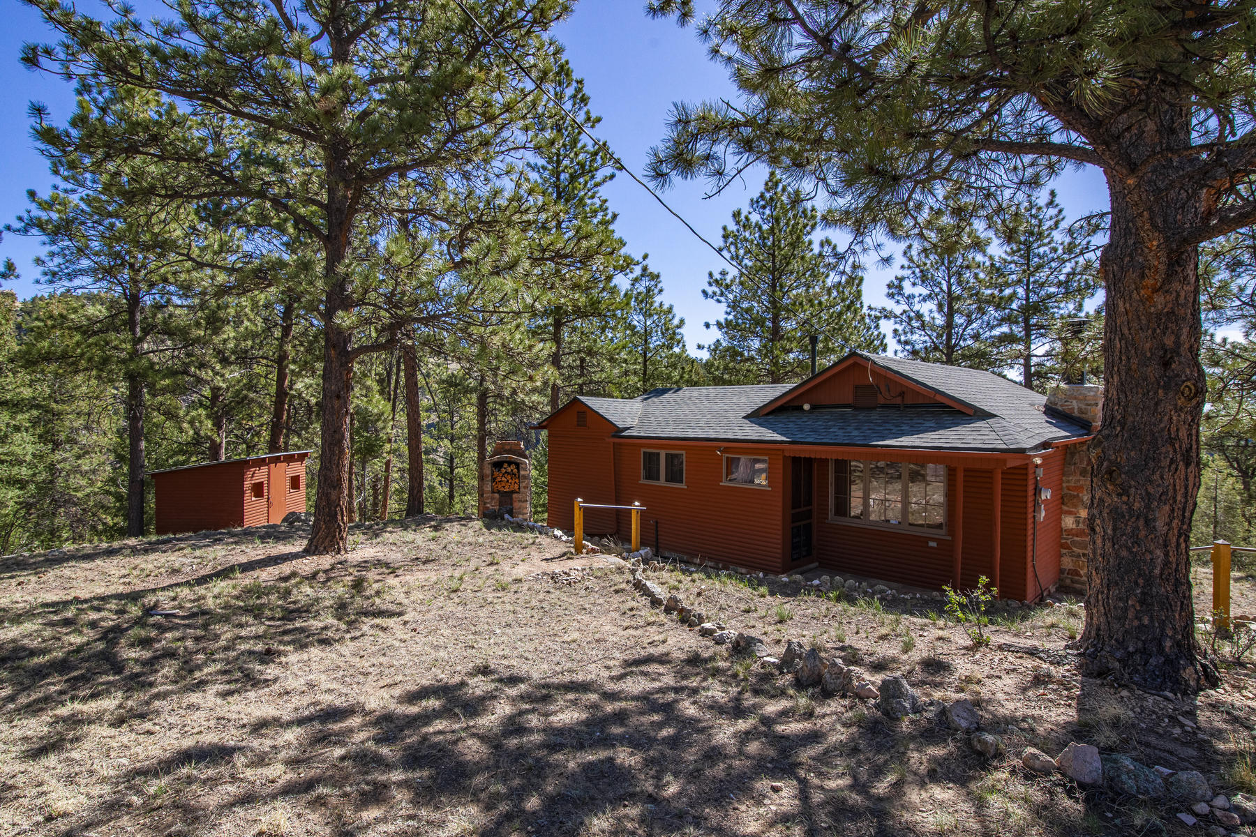 Single Family Homes for Active at Charming Mountain Cabin! 34053 Eagle Ln Pine, Colorado 80470 United States