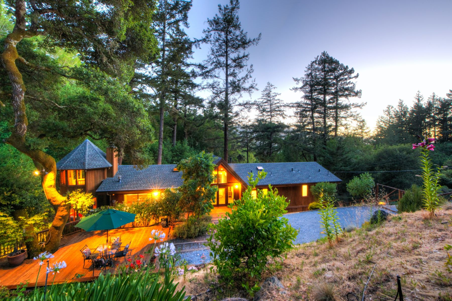 Single Family Home for Sale at Magical Setting on 1.49 Acres 78 Pine Avenue Woodacre, California 94973 United States