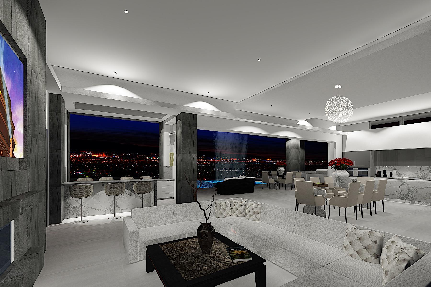 Additional photo for property listing at Hollywood West. New Modern Custom 657 Ridgestone Rim Henderson, Nevada 89012 United States