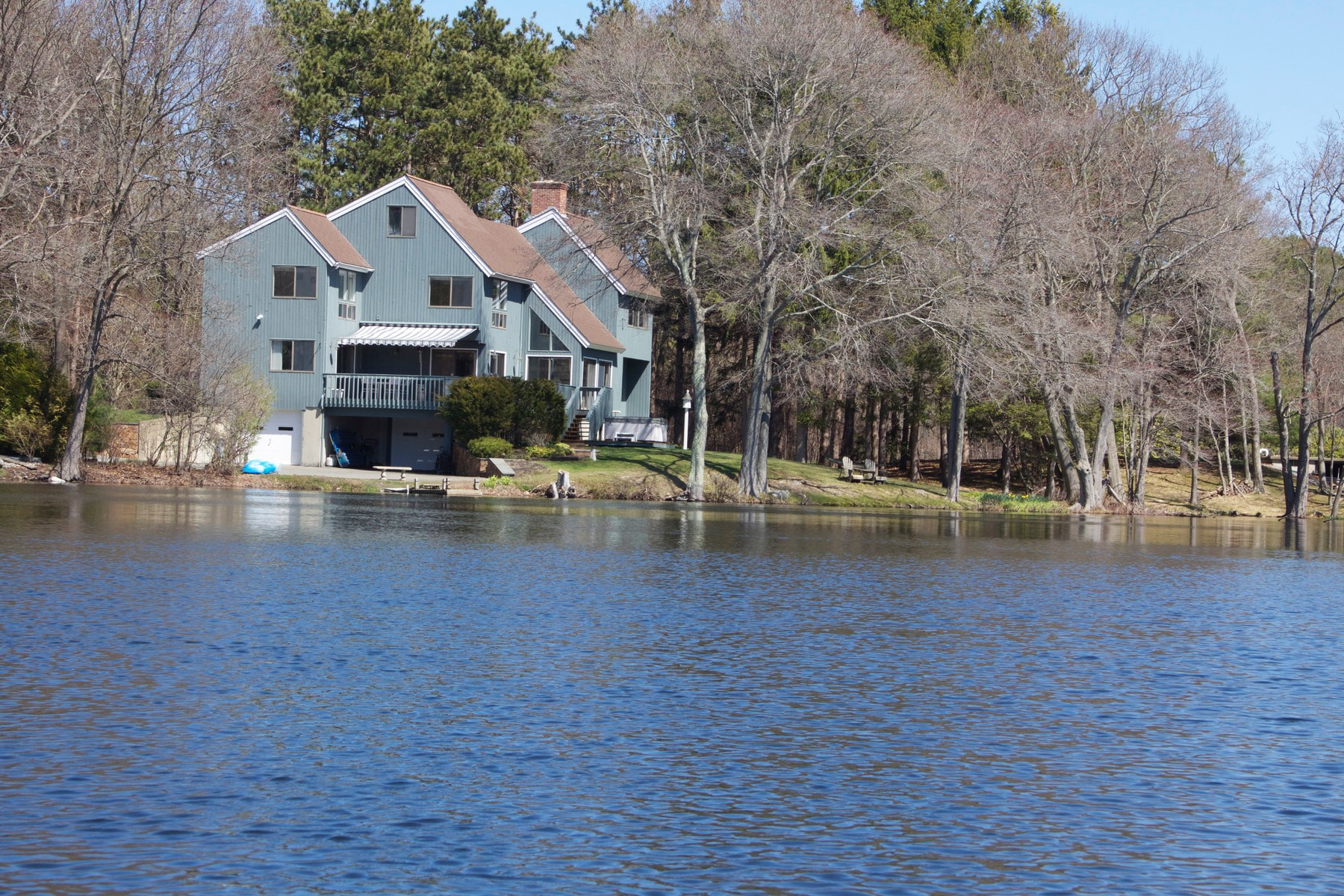 Single Family Home for Sale at Tranquil Direct Waterfront Contemporary 9 Norwood Pond Road Beverly, Massachusetts 01915 United States
