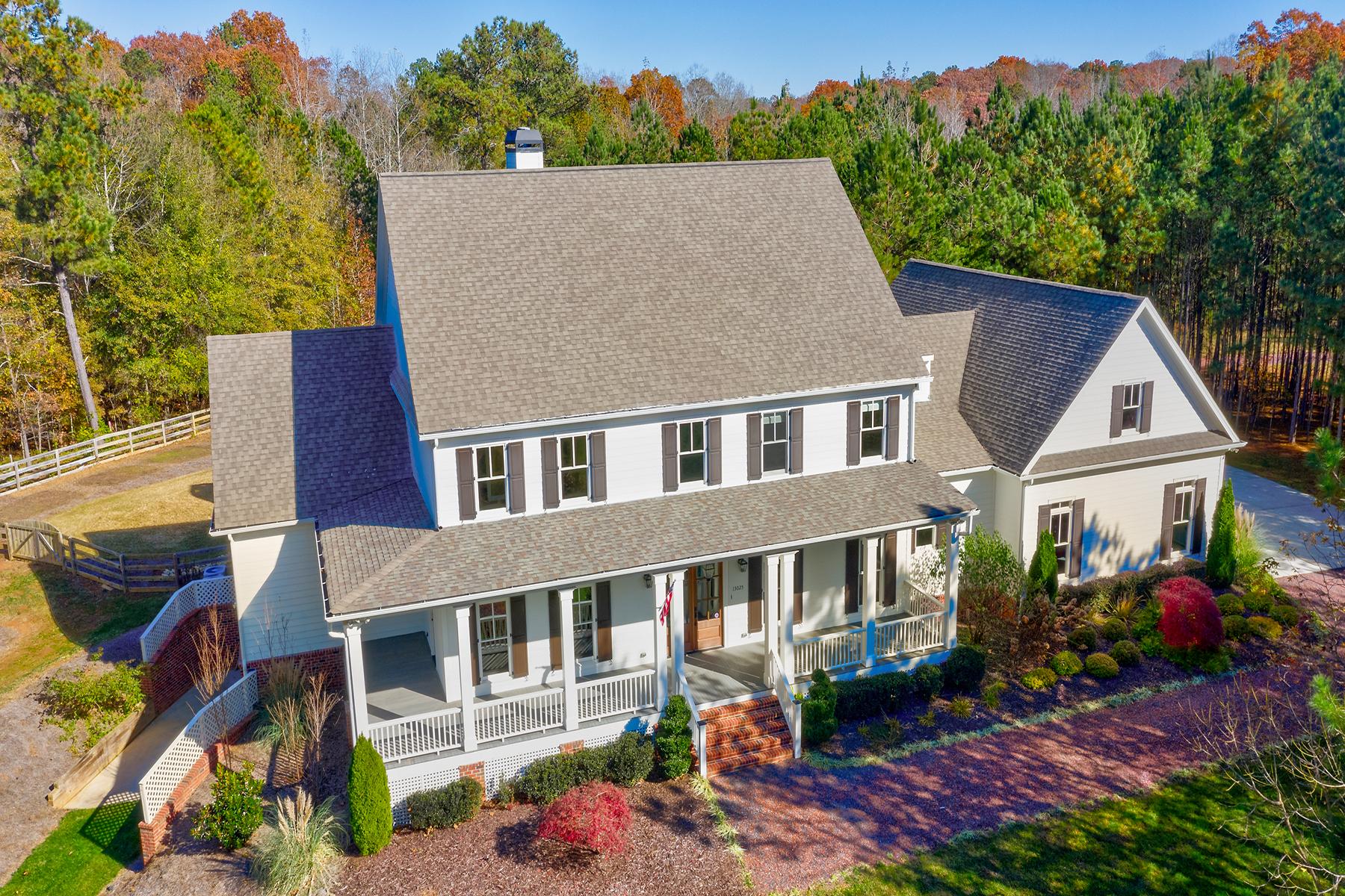 Single Family Home for Sale at Custome Milton Farmhouse On 4.99 Acres 13025 Arnold Mill Road Milton, Georgia 30004 United States