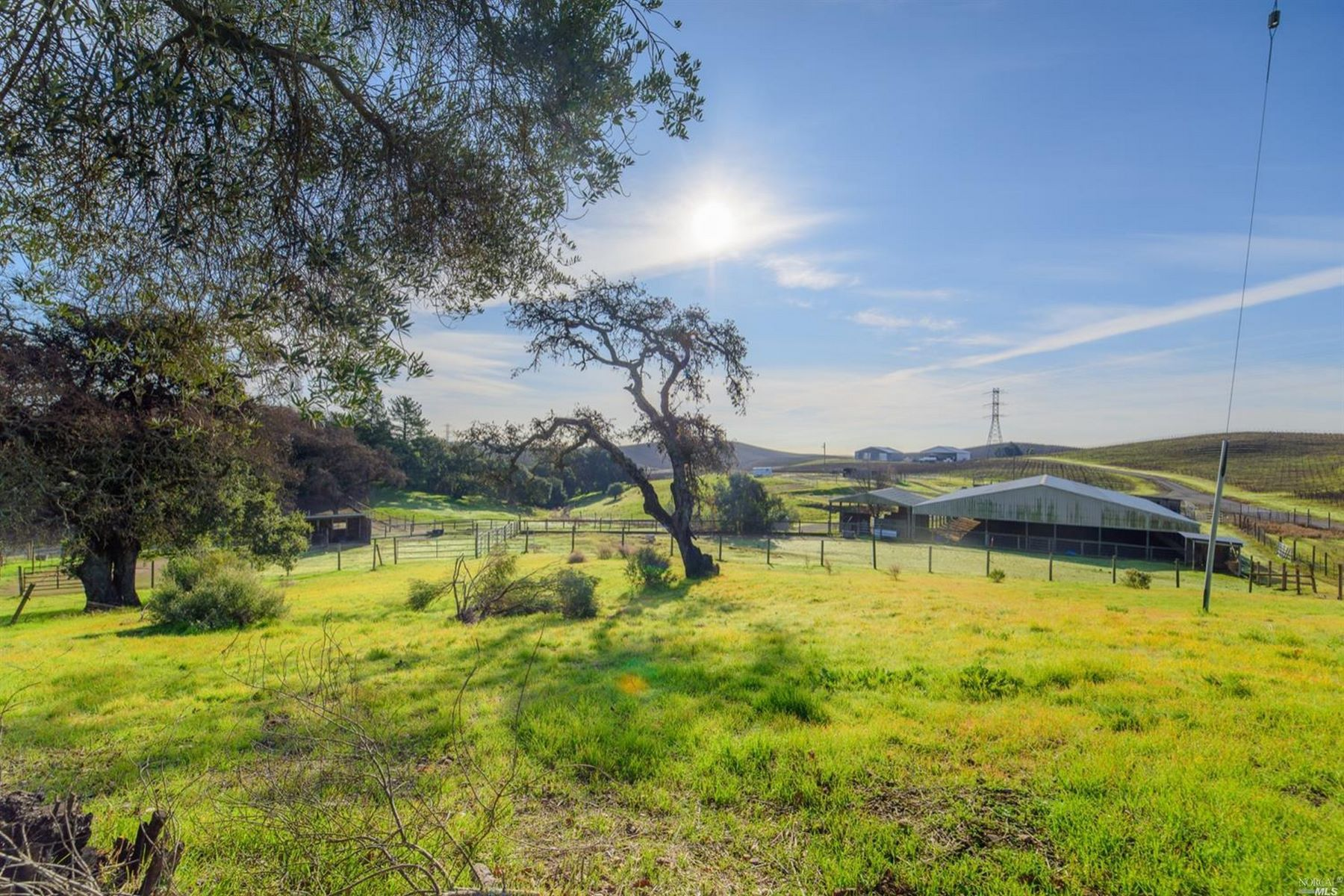 Single Family Homes for Sale at Equestrian/Horse Property in Napa Wine Country 5945 Haire Lane Napa, California 94558 United States