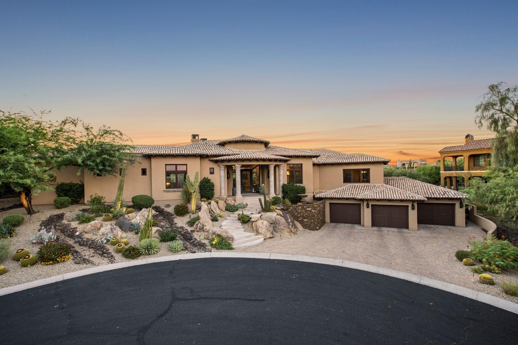 Single Family Homes por un Venta en Pinnacle Canyon 10742 E GREYTHORN DR Scottsdale, Arizona 85262 Estados Unidos