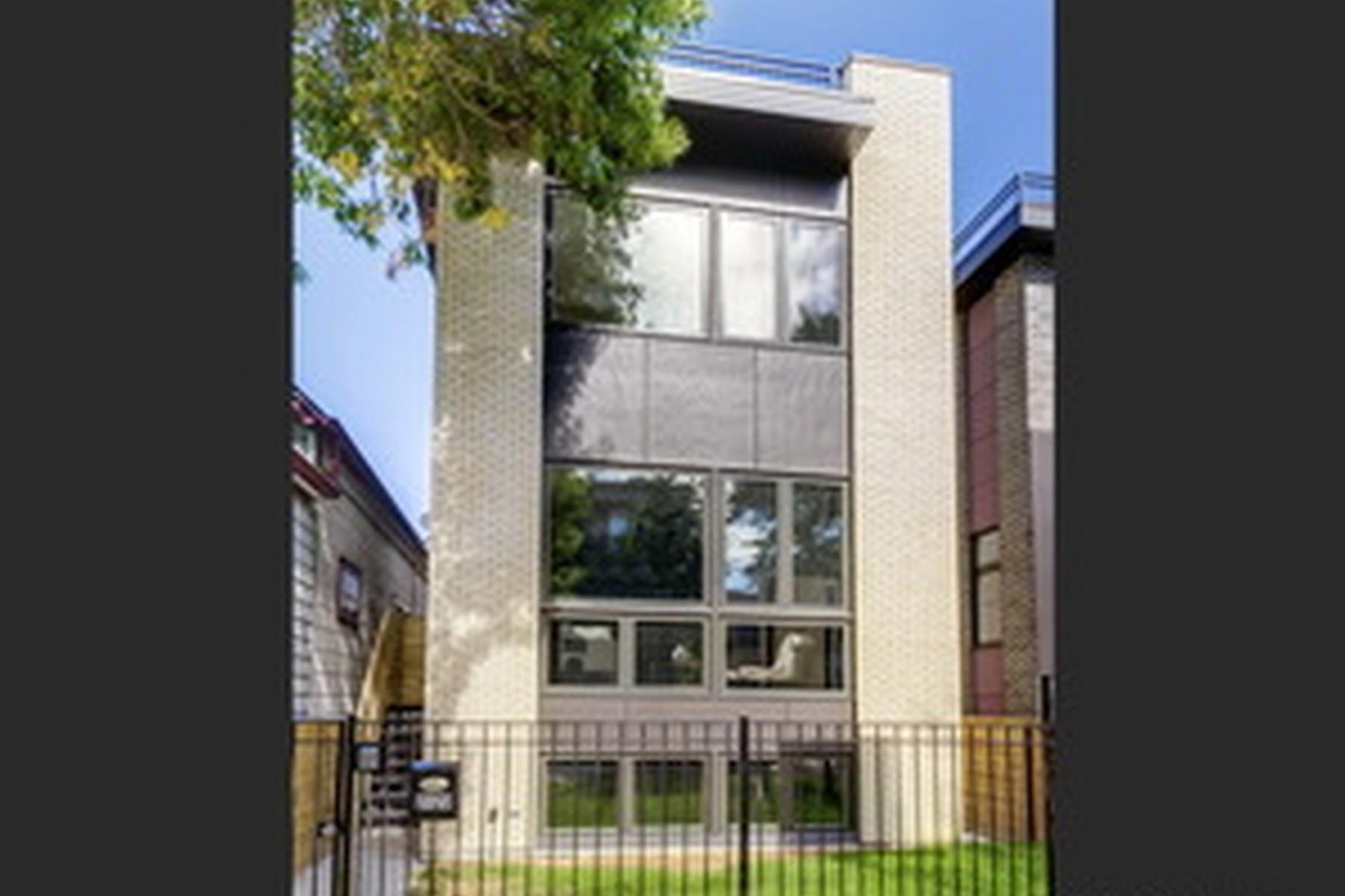 Maison unifamiliale pour l Vente à Logan Square New Construction 2119 Point Street Logan Square, Chicago, Illinois, 60647 États-Unis