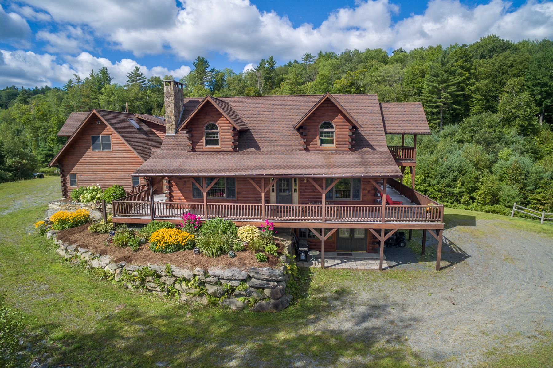 Single Family Home for Sale at Four Bedroom Adironack Logde on 179 Acres 154 Manley Hill Rd West Fairlee, Vermont 05083 United States
