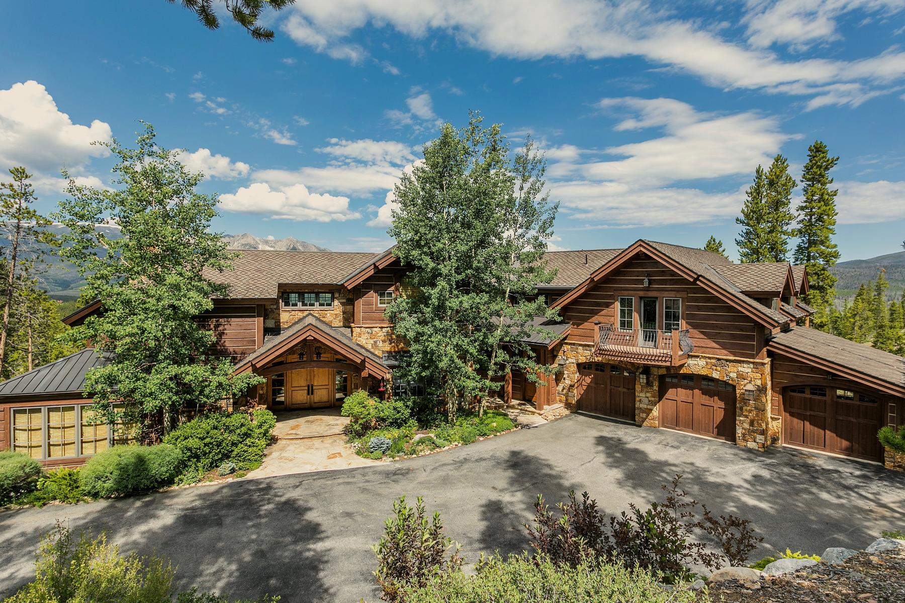 Single Family Home for Active at Mountain Residence Masterpiece with Sweeping Panoramic Views 2329 Estates Drive Breckenridge, Colorado 80424 United States
