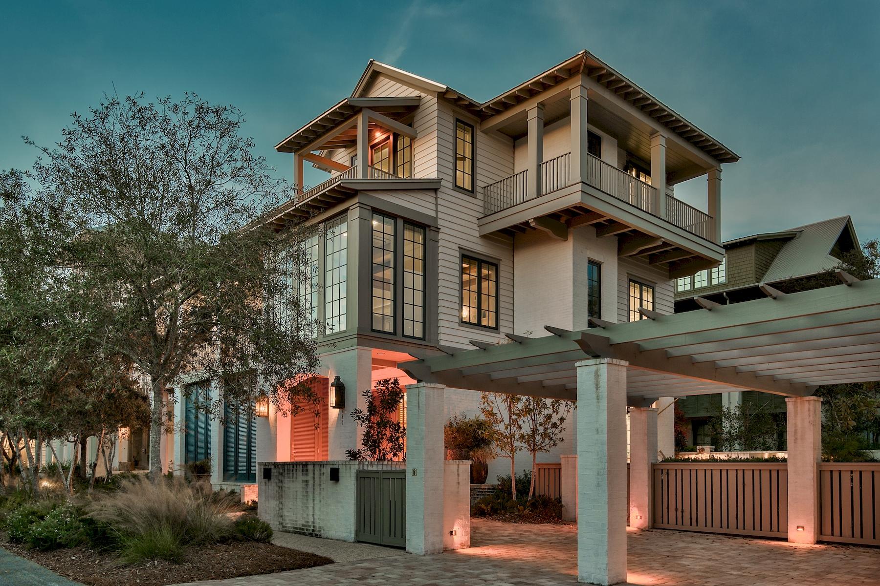 Casa Unifamiliar por un Venta en Custom Built Rosemary Beach Home Steps from the Beach 241 Rosemary Avenue Inlet Beach, Florida 32461 Estados Unidos