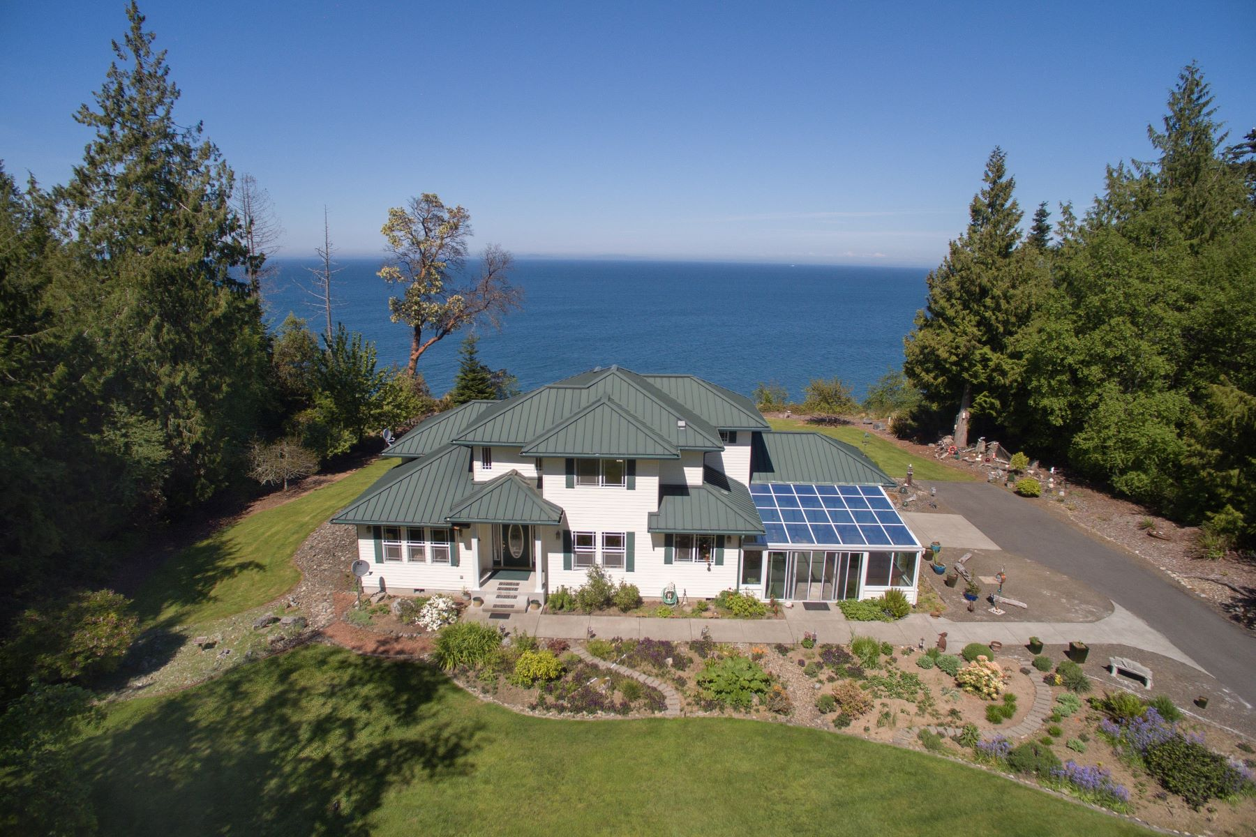 Single Family Home for Sale at Port Angeles Waterfront Home on 5 Acres 113 S Breakerpoint Place Port Angeles, Washington 98363 United States