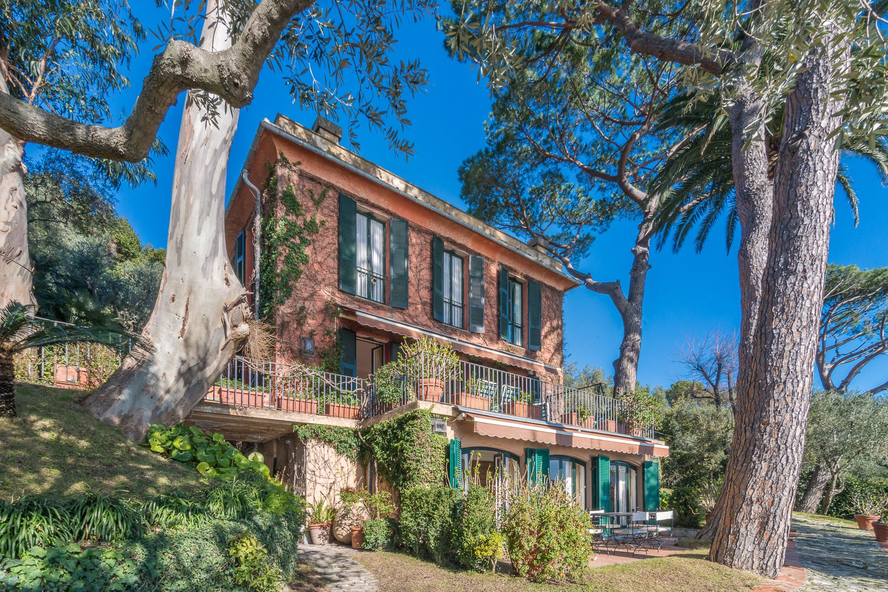 Single Family Home for Sale at Majestic villa overlooking the Italian Riviera Via Privata Repellini Santa Margherita Ligure, Genoa, 16038 Italy