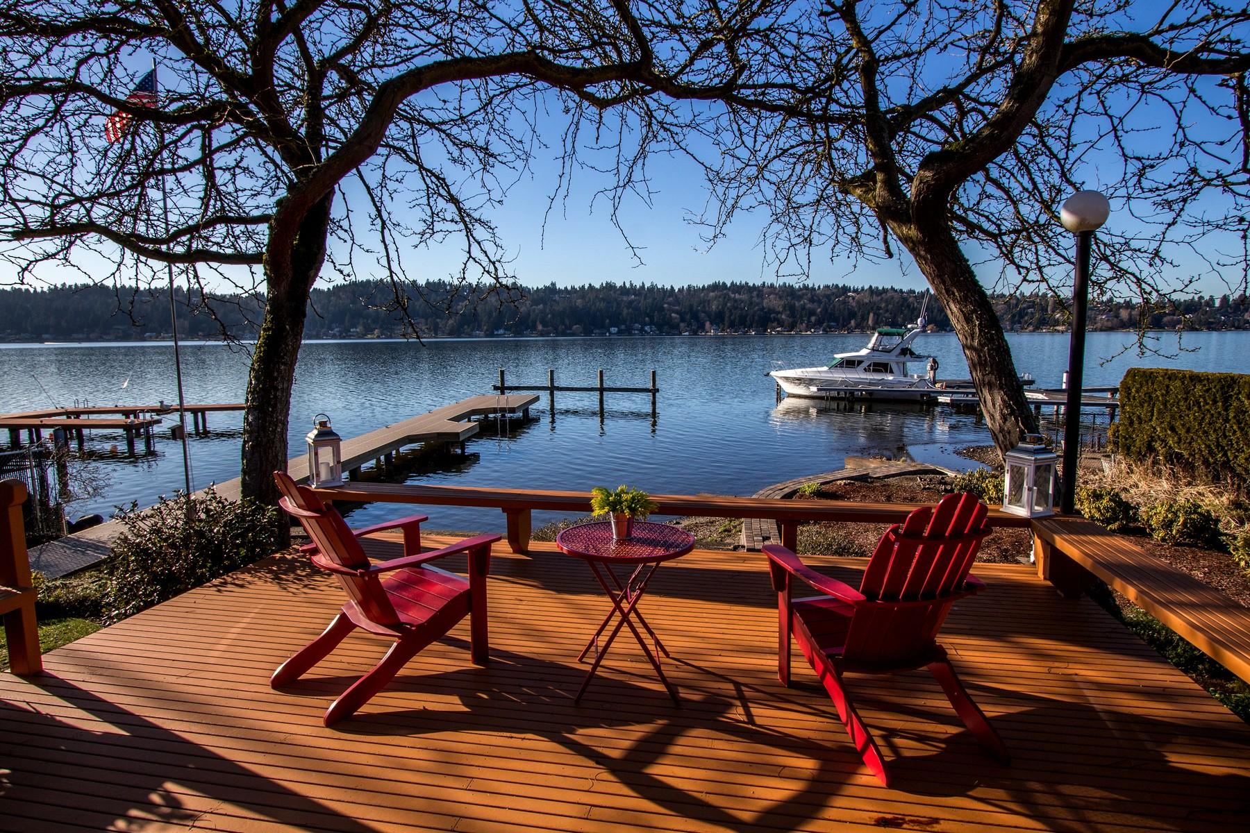 Single Family Home for Sale at Lakehurst Lane Waterfront 4737 Lakehurst Lane Bellevue, Washington 98006 United States