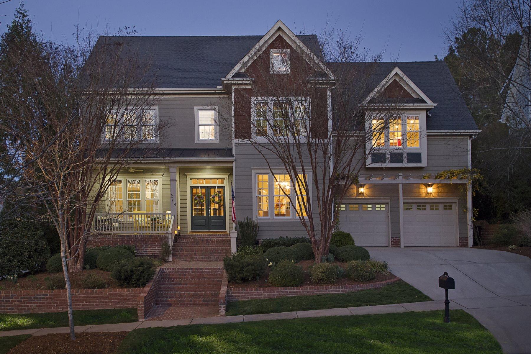 独户住宅 为 销售 在 The Very Height of Meadowmont Living 208 Falkner Drive 沙佩尔山, 北卡罗来纳州, 27517 美国