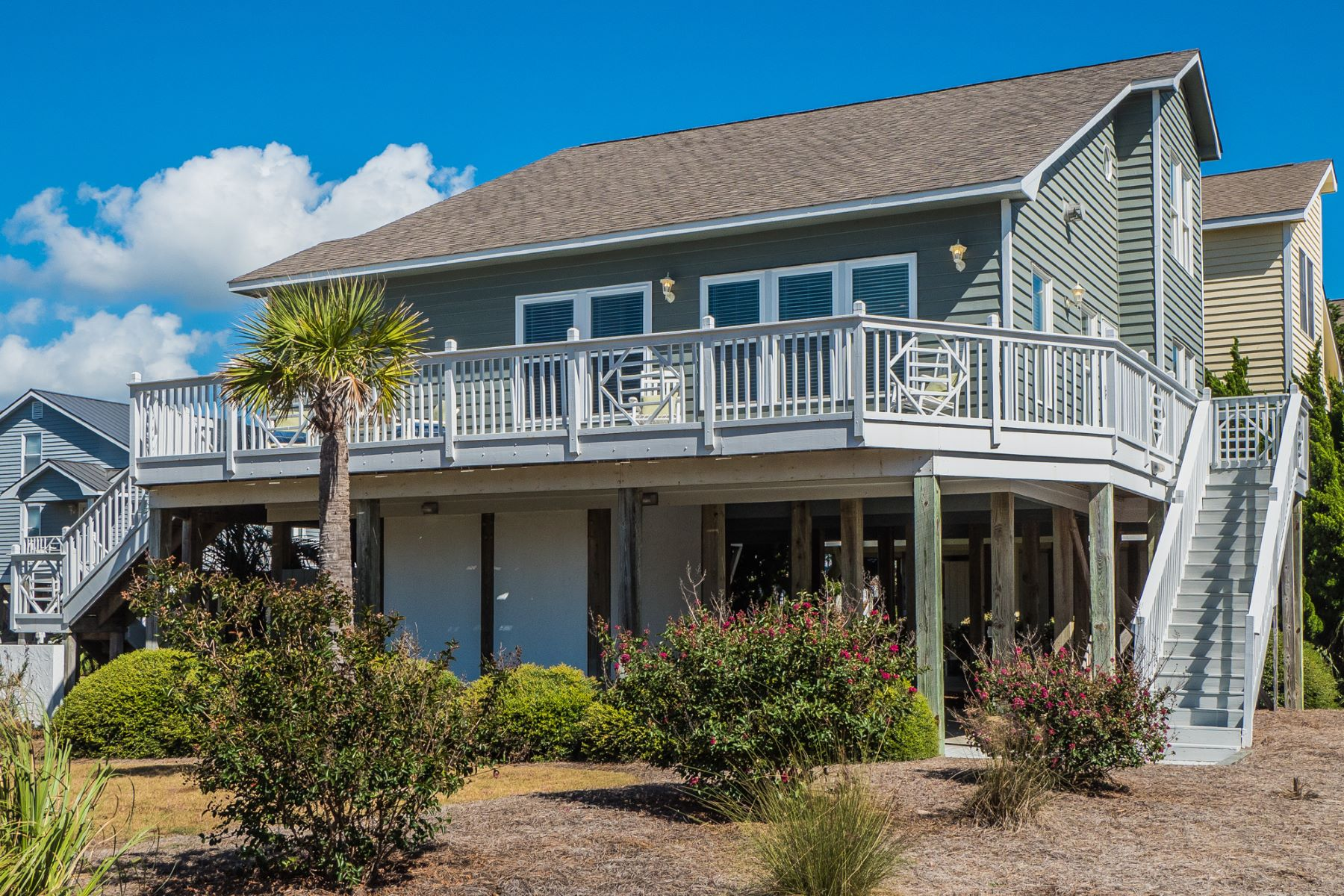 Single Family Home for Sale at Ocean Views at this Corner Lot Beach House 11 Bayberry Drive, Ocean Isle Beach, North Carolina, 28469 United States