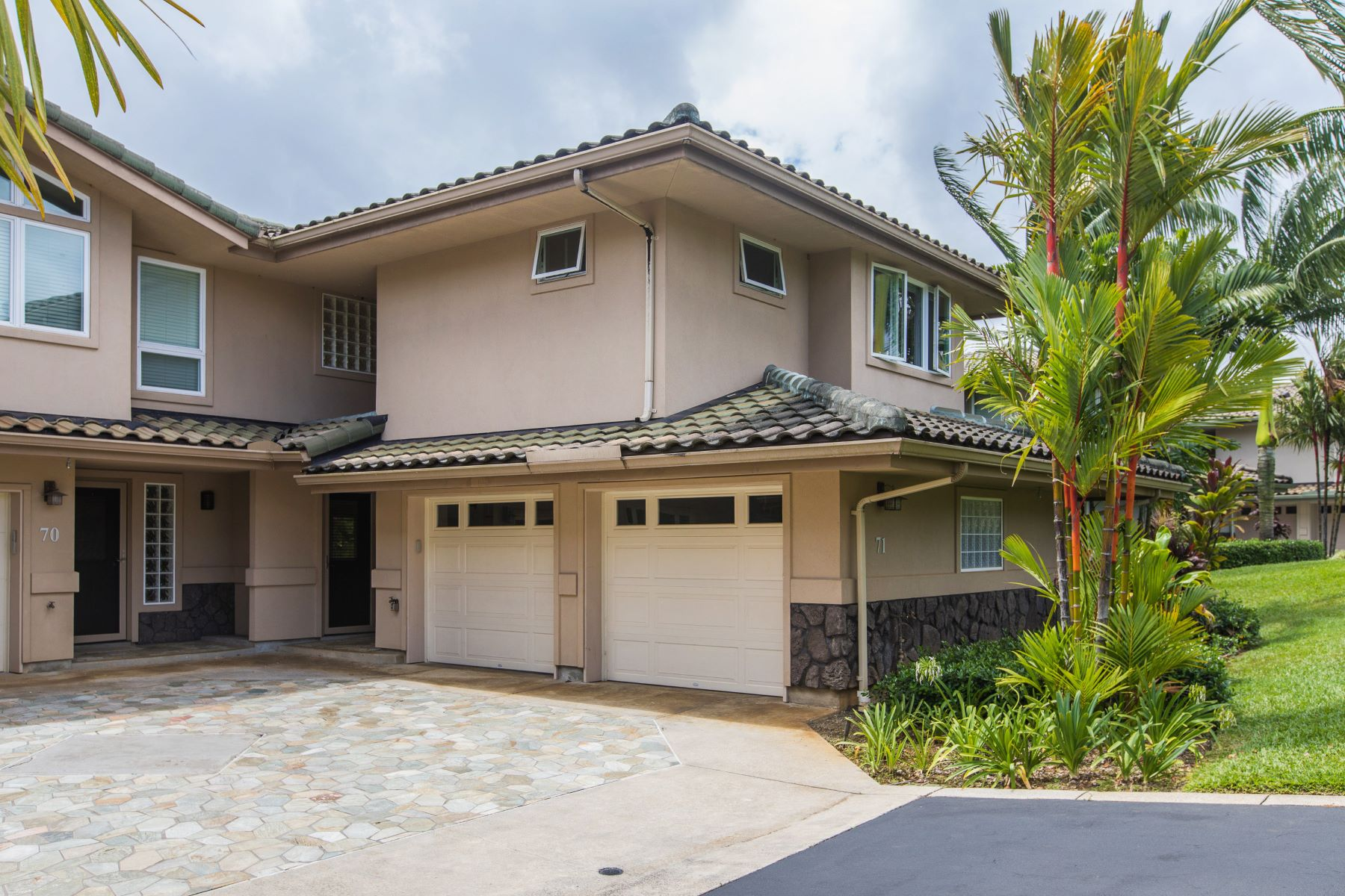 Кондоминиум для того Продажа на Beautiful, Modern 2 Bedroom, 2 1/2 Bathroom Condominium on Kauai's North Shore 4100 Queen Emma Drive #71 Princeville, Гавайи, 96722 Соединенные Штаты