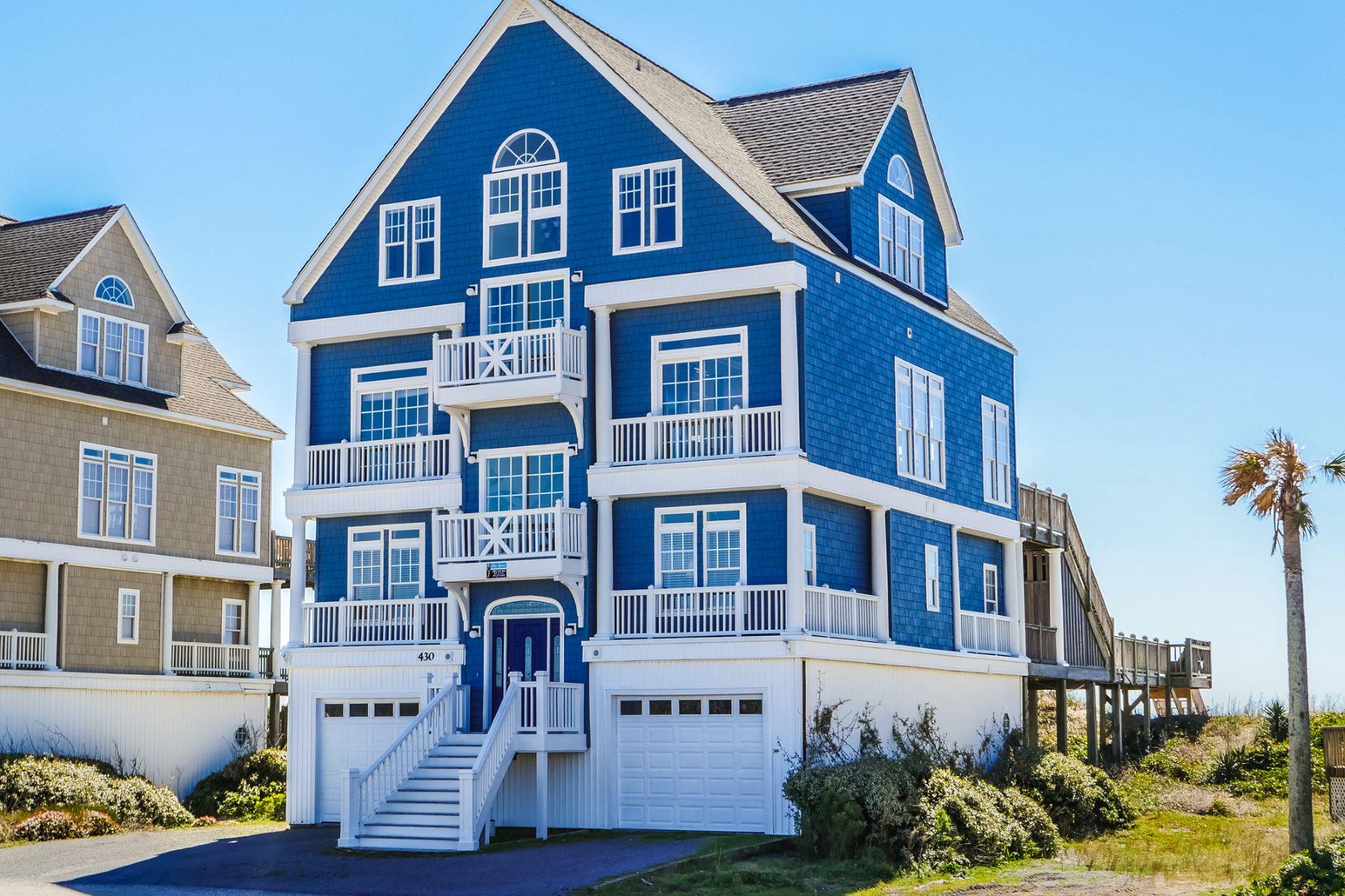 Maison unifamiliale pour l Vente à Oceanfront Magnificence 430 New River Inlet Rd N Topsail Beach, Carolina Du Nord, 28460 États-Unis
