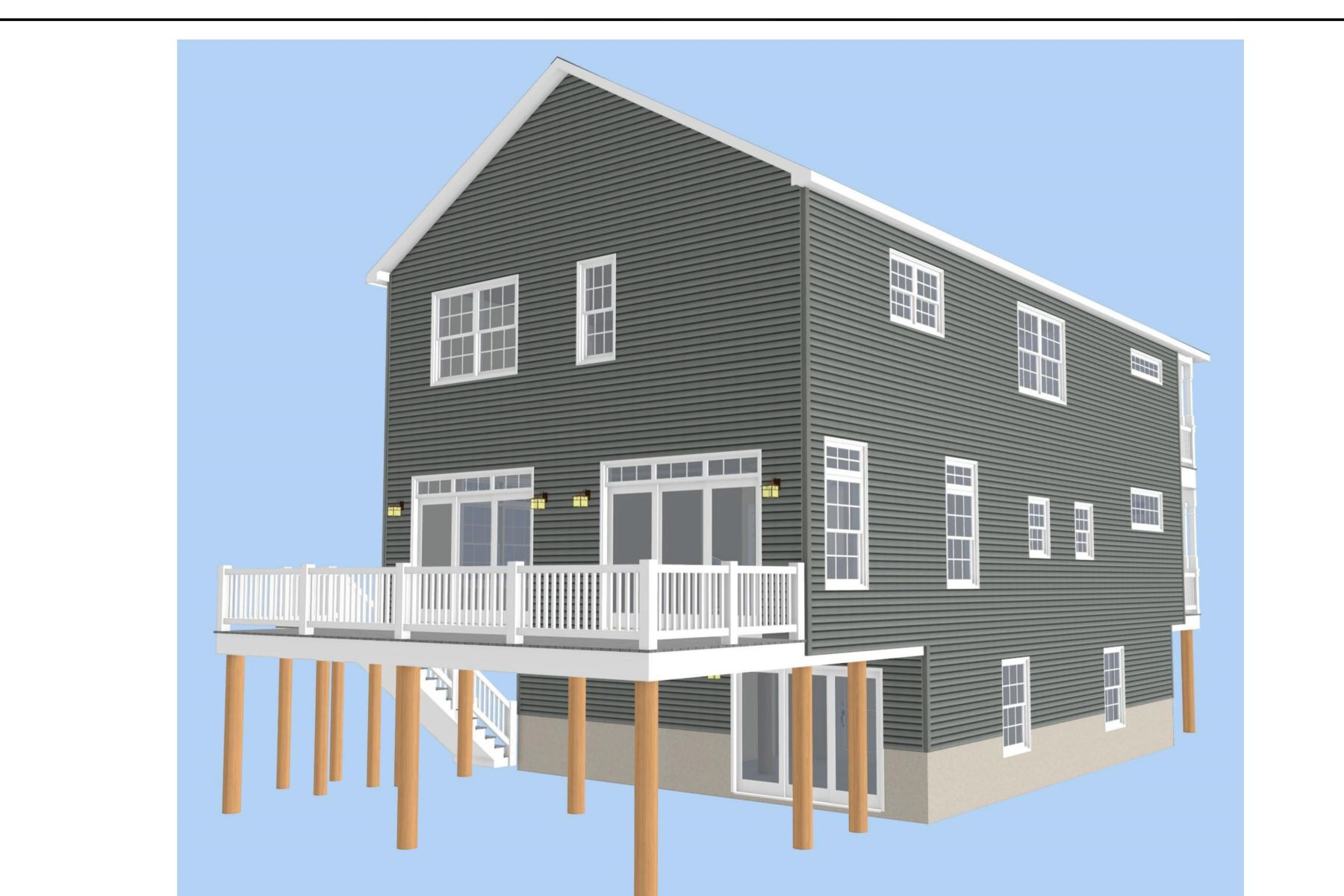 Single Family Homes for Active at Ocean Block New Construction 34 1st Avenue Normandy Beach, New Jersey 08739 United States