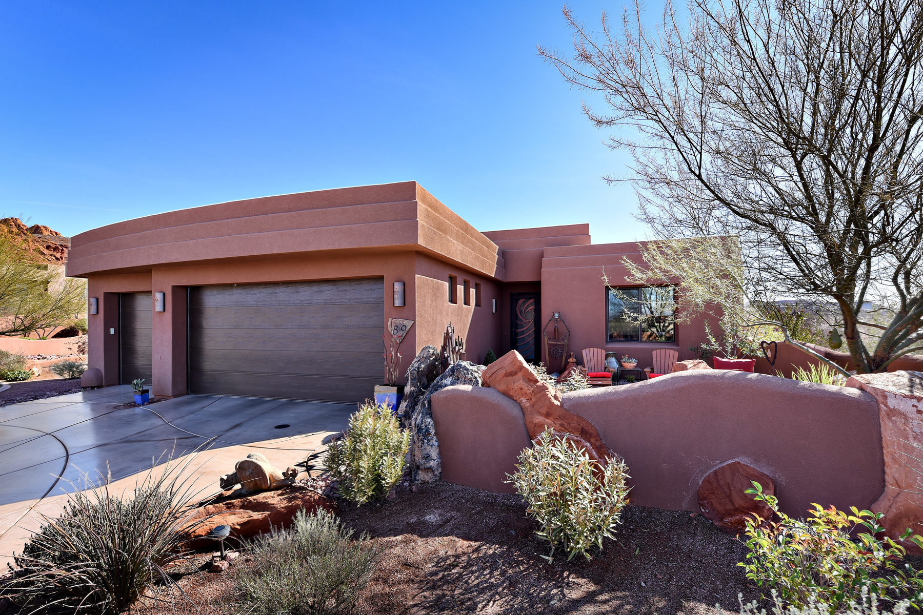 Single Family Home for Sale at Contemporary Home/Spectacular Views 2331 W Entrada Trail #89 St. George, Utah, 84770 United States