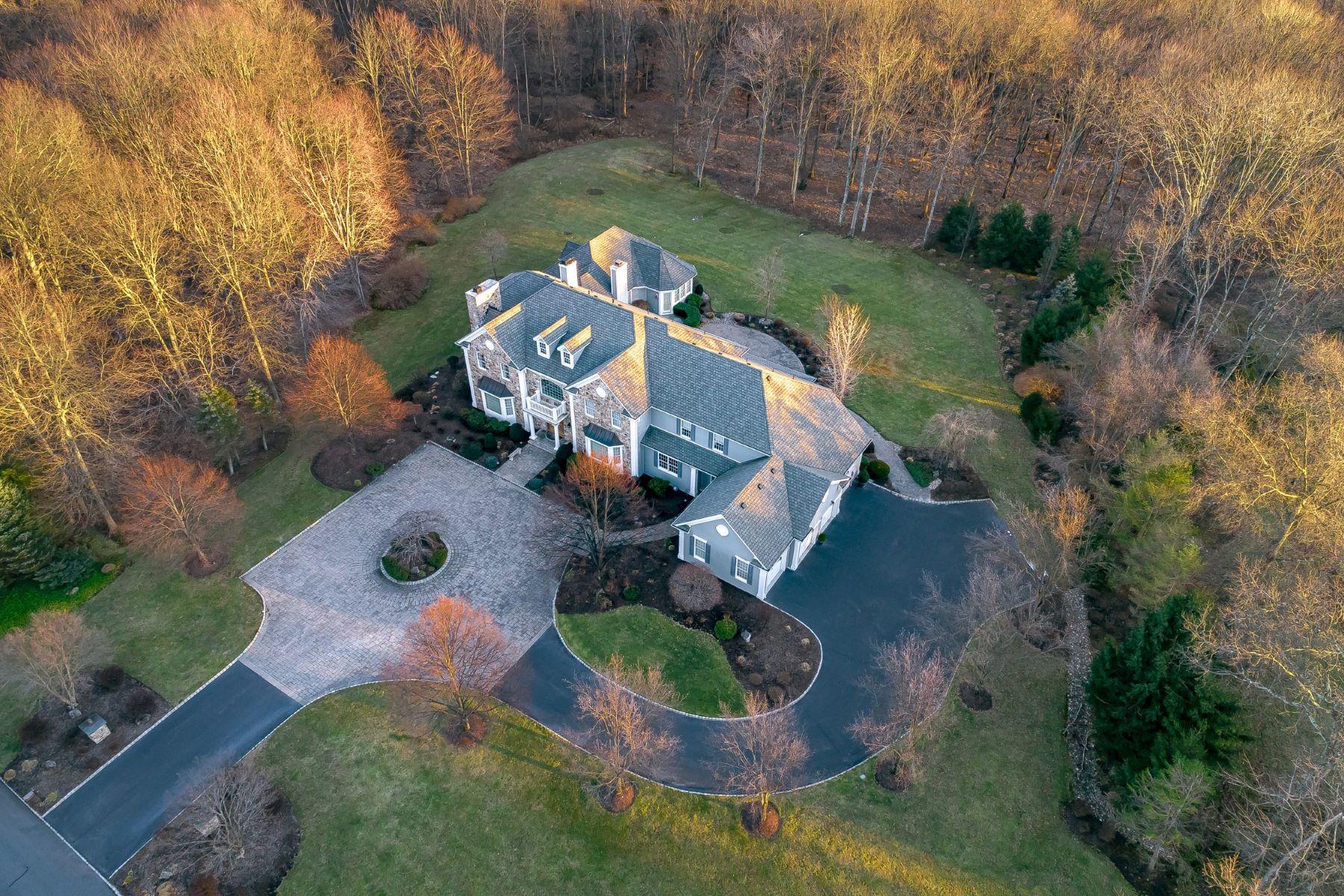 Single Family Homes для того Продажа на Exceptional Custom Residence 17 Beaver Creek Court, Basking Ridge, Нью-Джерси 07920 Соединенные Штаты