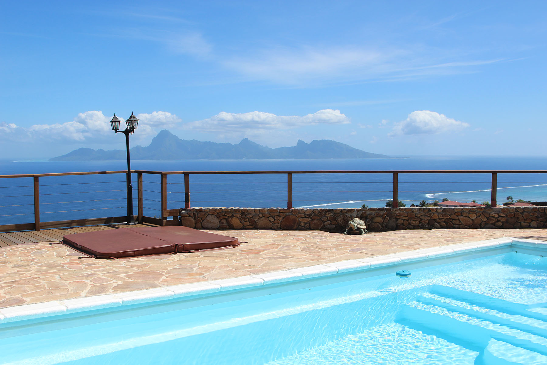 Single Family Home for Sale at Family house with a panoramic view on ocean and Moorea Tahiti, French Polynesia