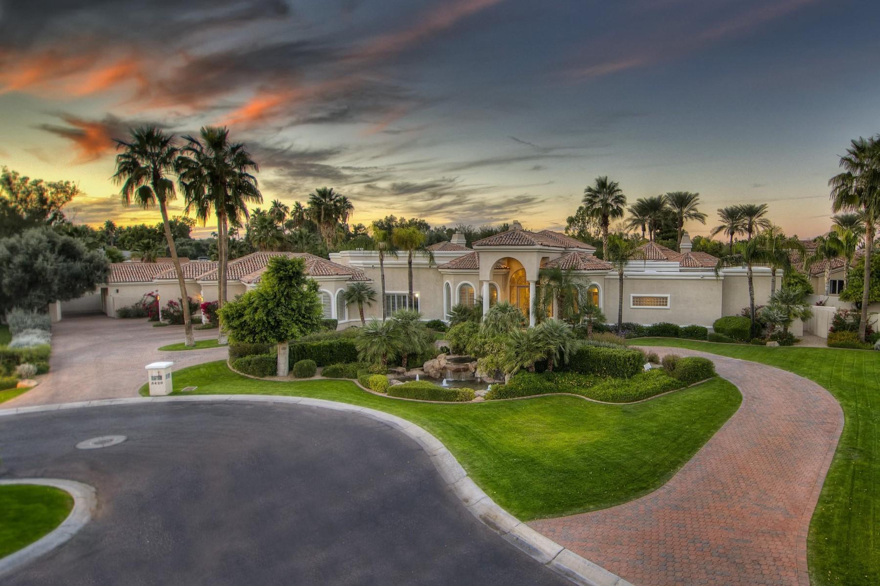 Tek Ailelik Ev için Satış at Elegant Santa Barbara-style home 5420 E Berneil Dr Paradise Valley, Arizona, 85253 Amerika Birleşik Devletleri