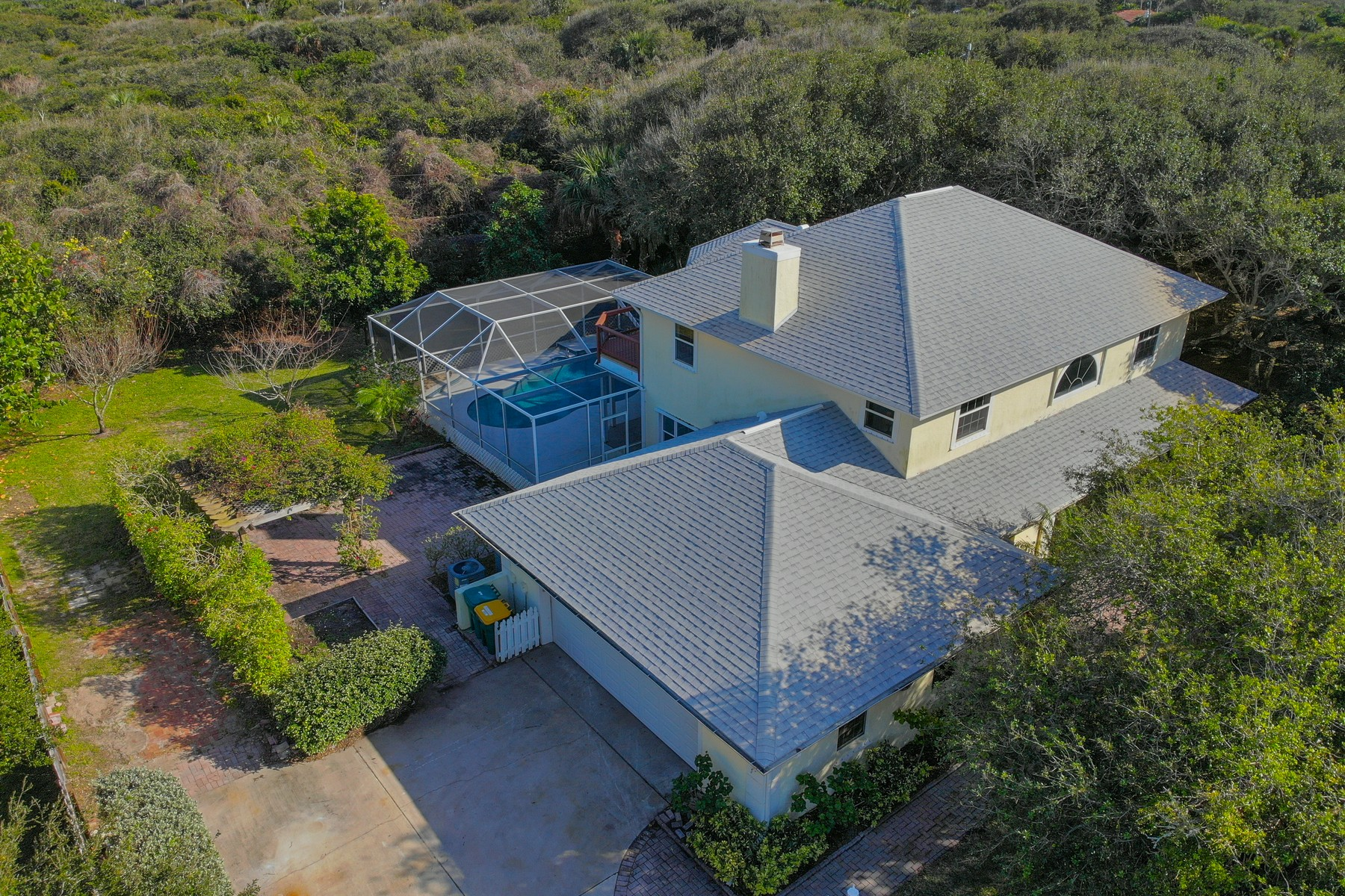 Property for Sale at Rare Beachside Home on a Half Acre Lot with Large Pool & Lanai 301 Indian Mound Drive Melbourne Beach, Florida 32951 United States