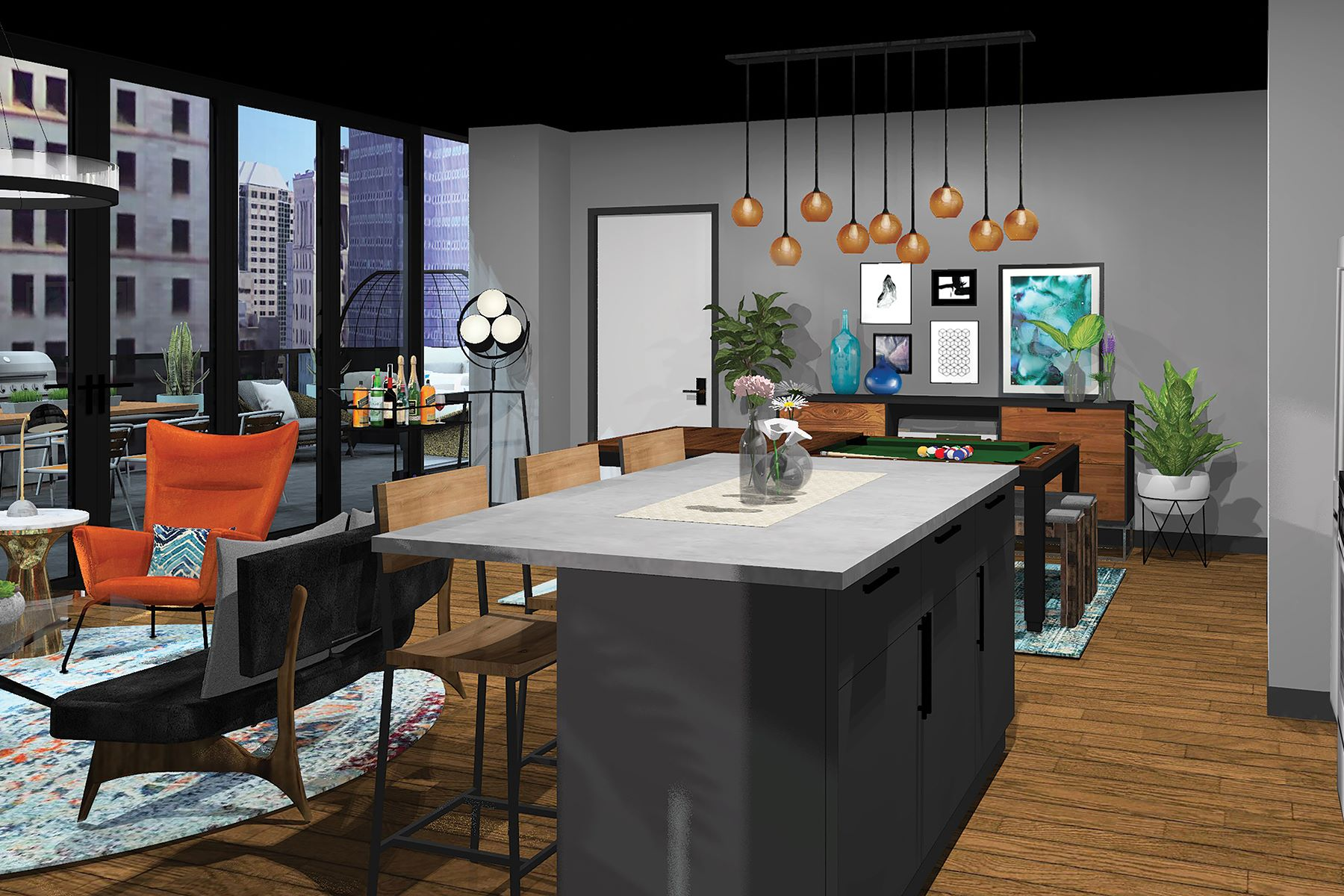 共管式独立产权公寓 为 销售 在 The Estella Residence at Lumiére 350 Oliver Avenue #1010, Downtown Pittsburgh, Pittsburgh, 宾夕法尼亚州, 15222 美国
