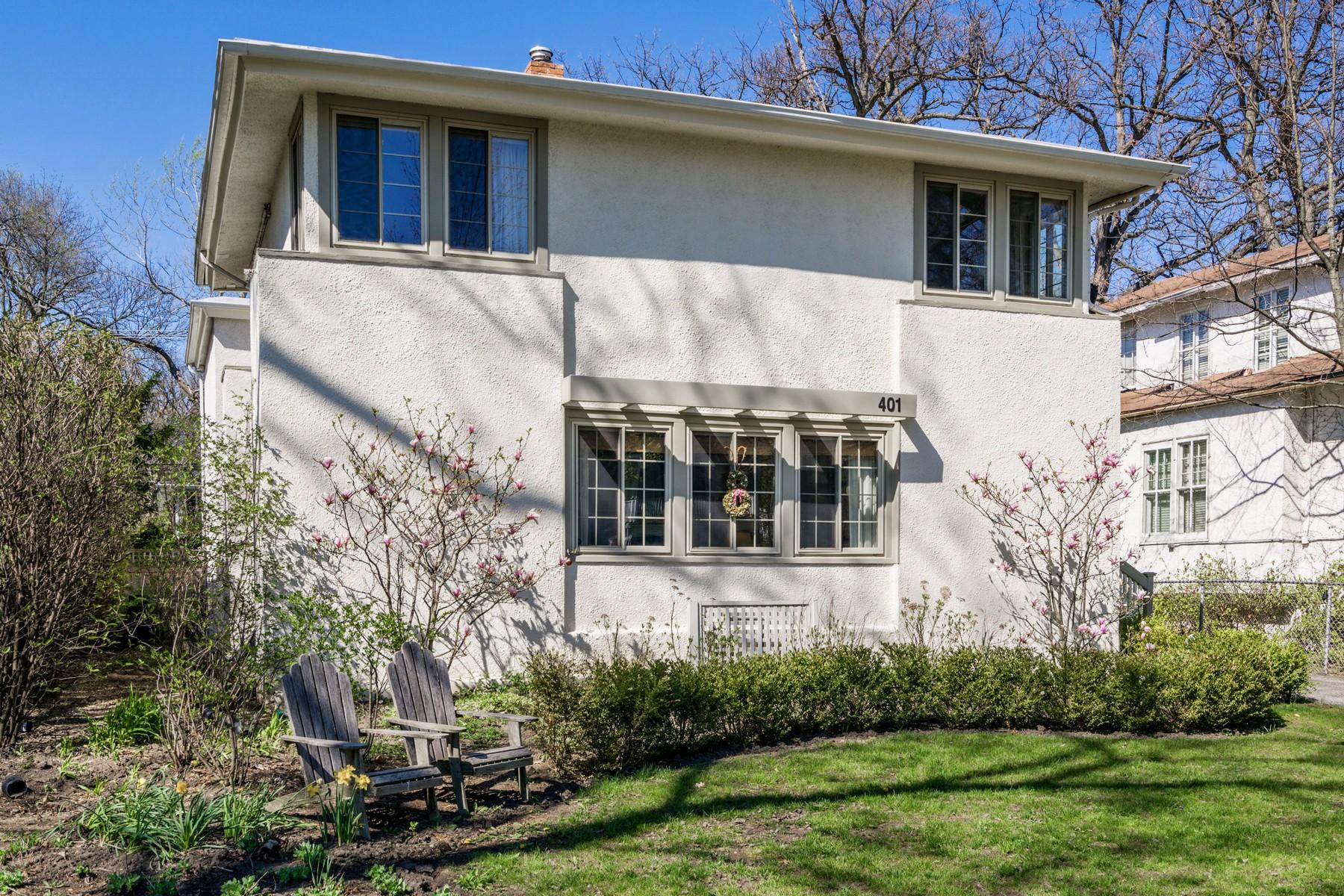 Moradia para Venda às Classic Prairie Style Home 401 Woodlawn Avenue Glencoe, Illinois, 60022 Estados Unidos