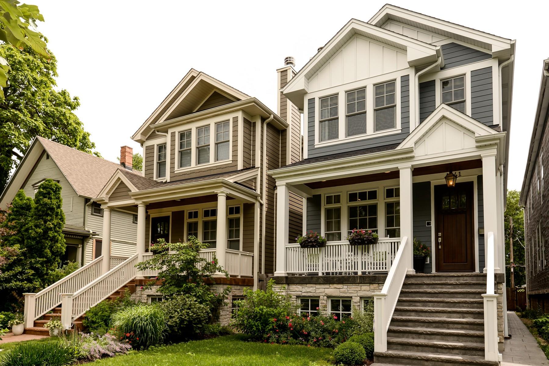 独户住宅 为 销售 在 Gorgeous Lakeview Home 4241 N Paulina Street, Lakeview, 芝加哥, 伊利诺斯州, 60613 美国