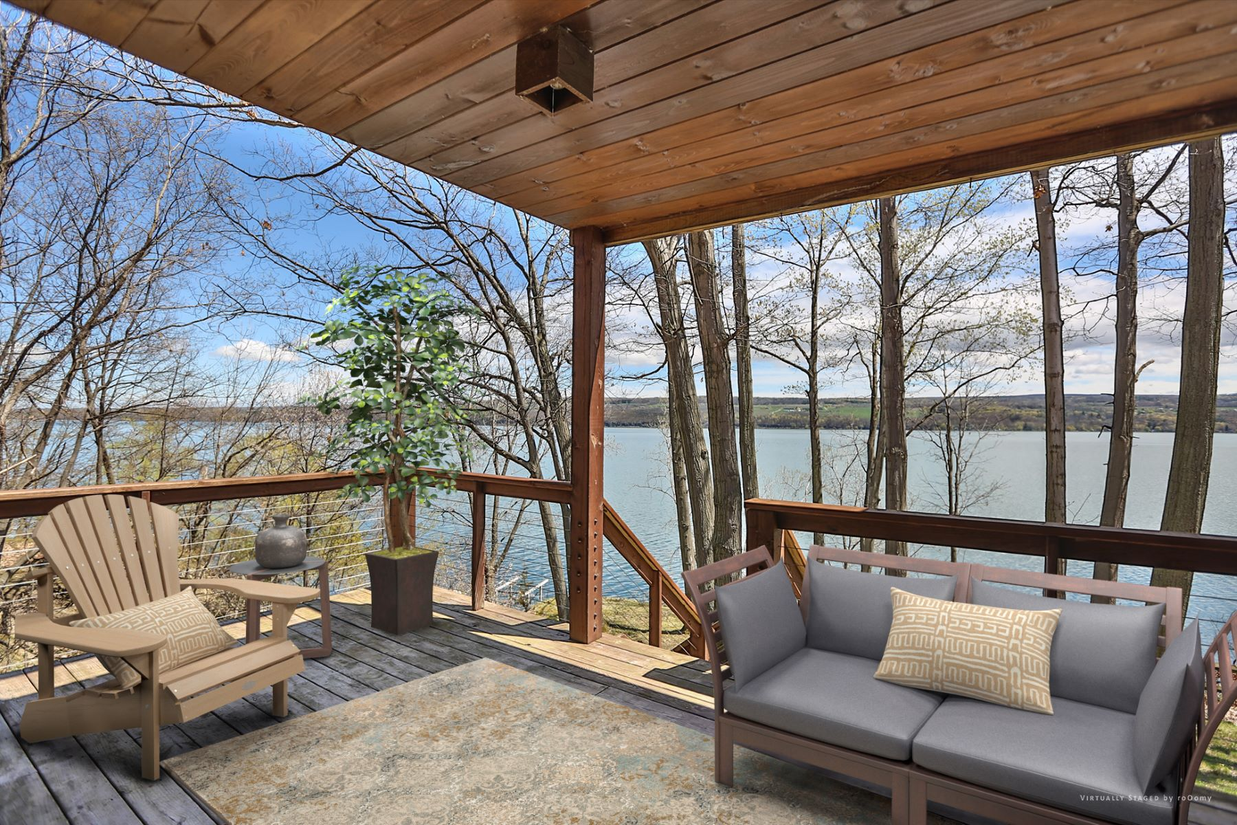 Additional photo for property listing at Spectacular Timber Frame on Seneca  Lake 4572  Lakeview Rd Starkey, New York 14837 Hoa Kỳ