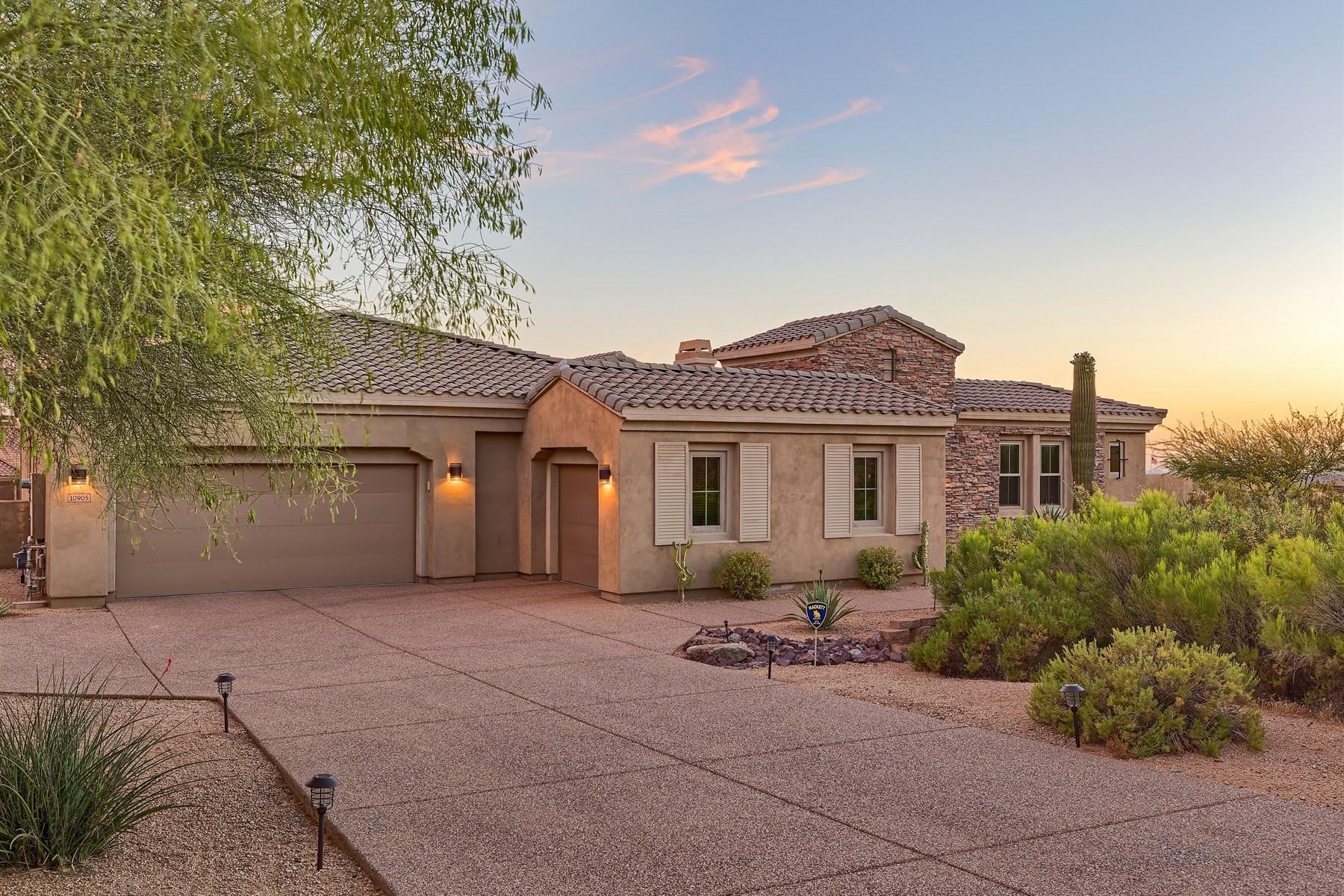 단독 가정 주택 용 매매 에 Stunning contemporary home with breathtaking views 10905 E La Verna Way Scottsdale, 아리조나, 85262 미국