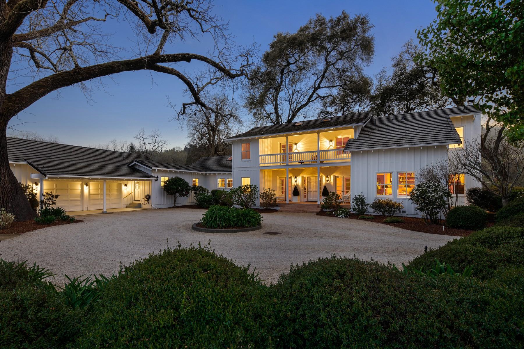 Vineyard Real Estate for Active at Dry Creek Creekside Estate 2950 Dry Creek Road Healdsburg, California 95448 United States