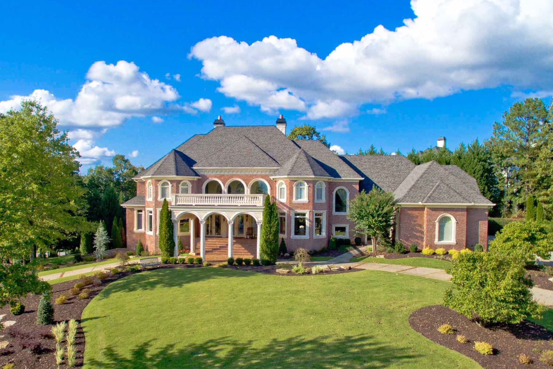 Single Family Home for Active at Extraordinary European Elegance in Country Club of the South 1005 Leadenhall Street Alpharetta, Georgia 30022 United States